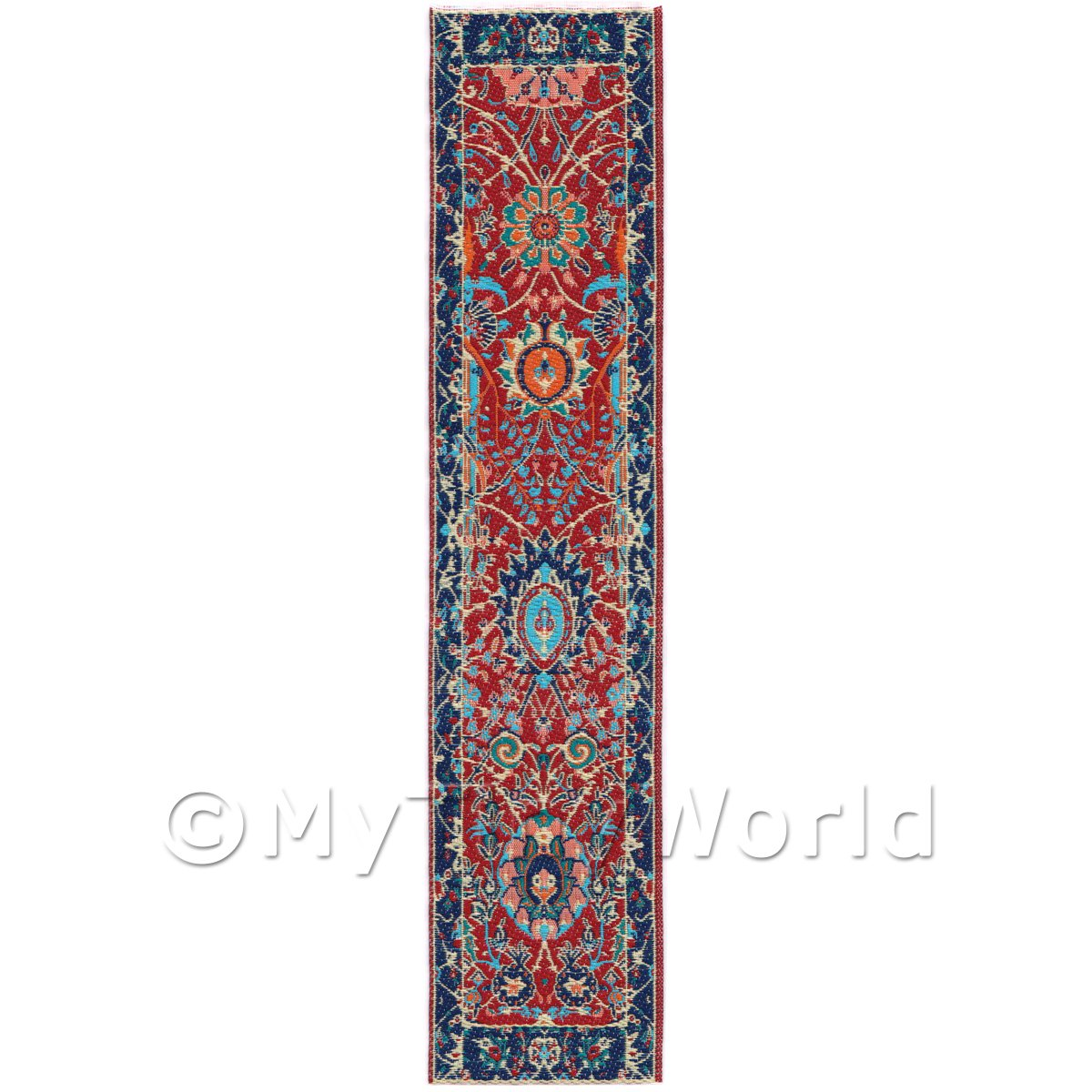 Dolls House Miniature 24cm Woven Turkish Hall Runner (TR048)