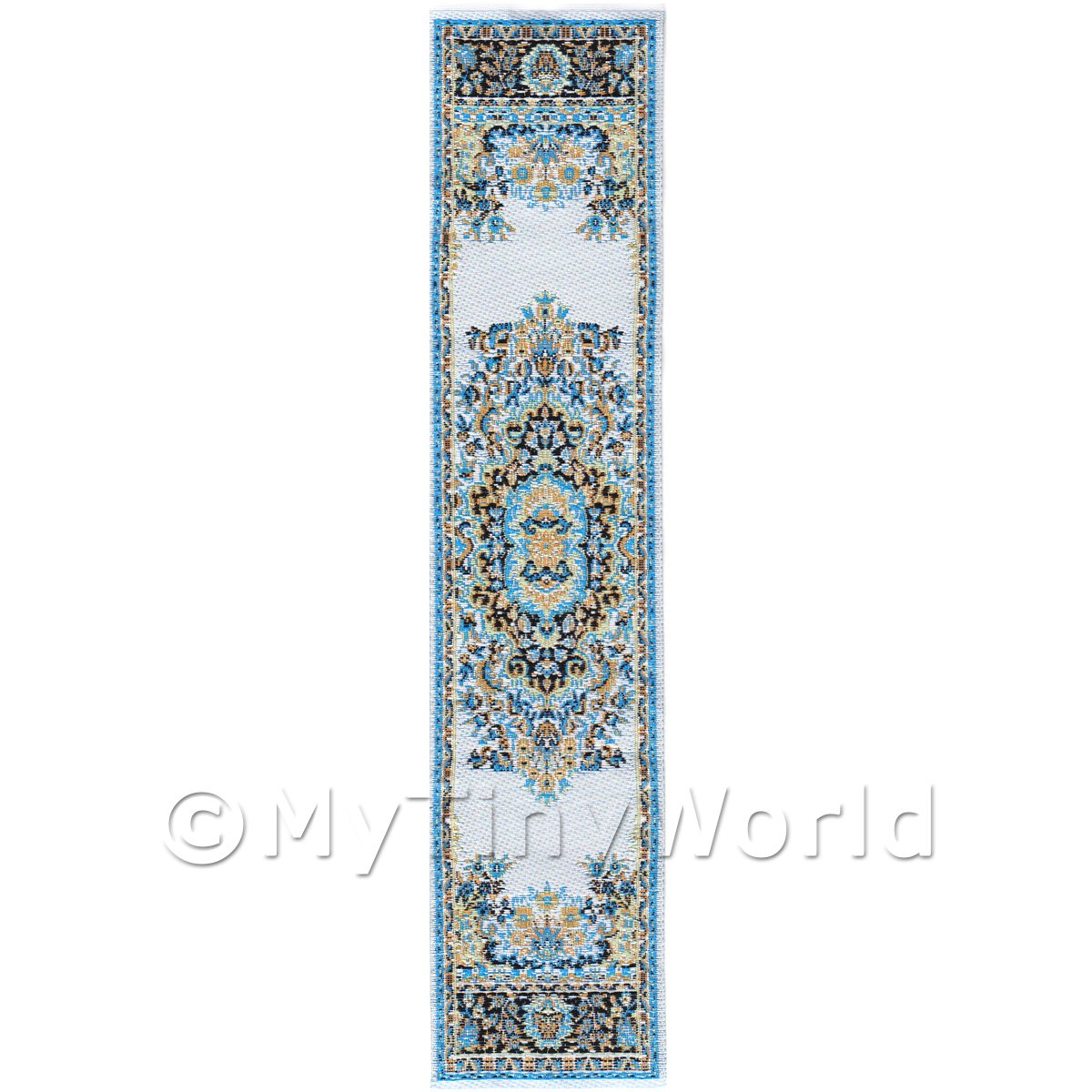 Dolls House Miniature 24cm Woven Turkish Hall Runner (TR052)