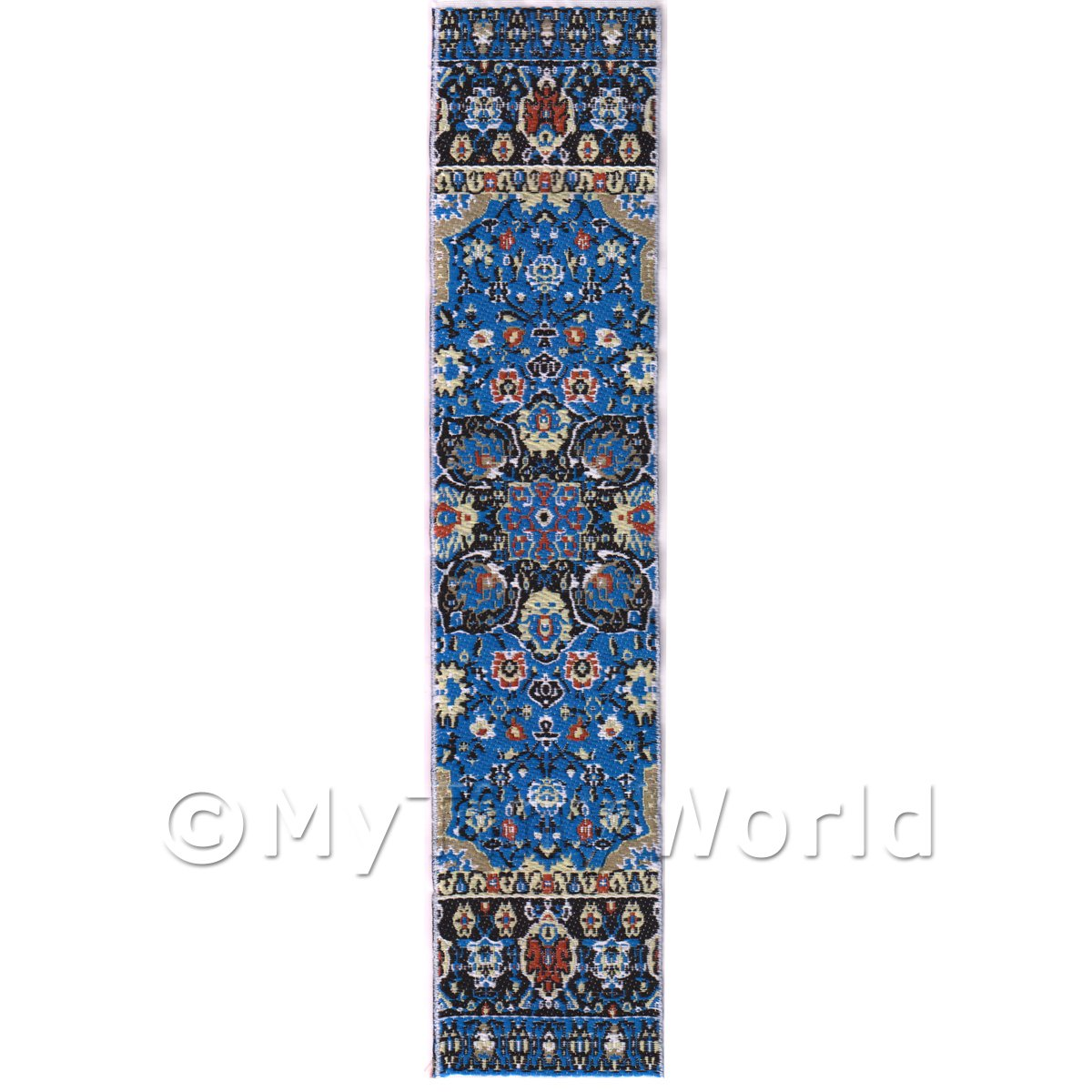 Dolls House Miniature 24cm Woven Turkish Hall Runner (TR053)
