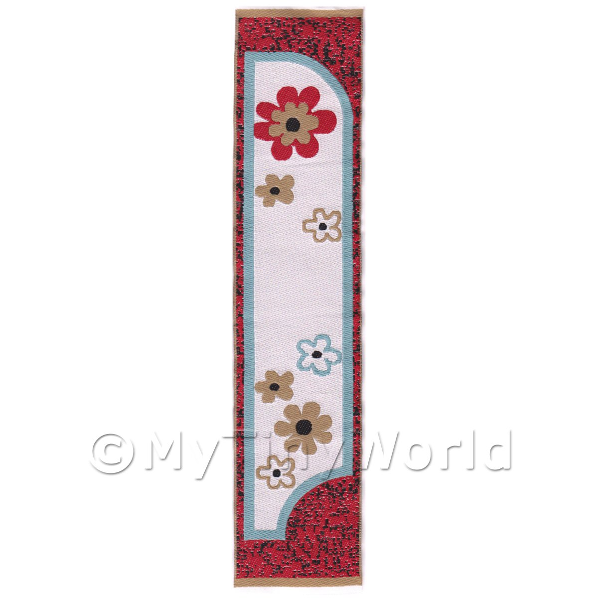 Dolls House Miniature 24cm Woven Turkish Hall Runner (TR054)