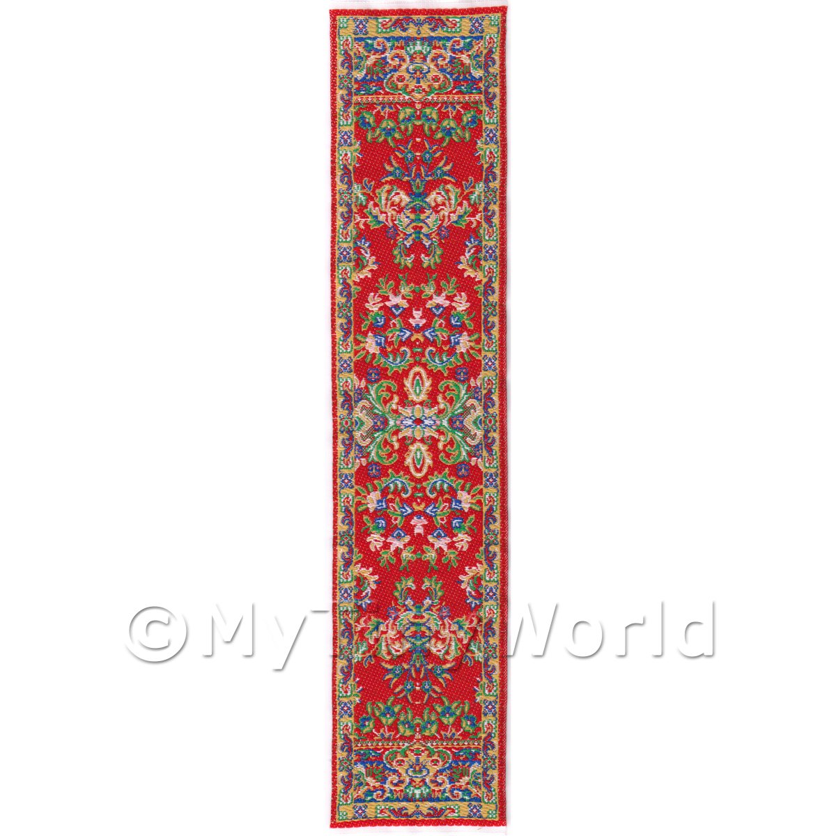 Dolls House Miniature 24cm Woven Turkish Hall Runner (TR057)