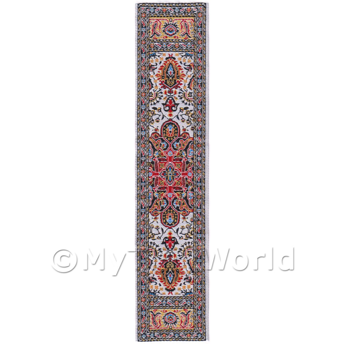 Dolls House Miniature 24cm Woven Turkish Hall Runner (TR058)