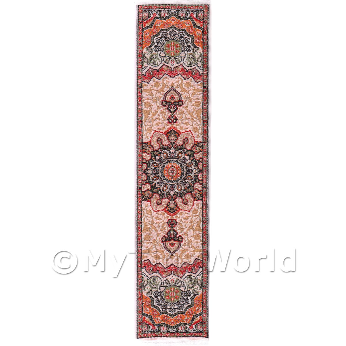 Dolls House Miniature 24cm Woven Turkish Hall Runner (TR060)