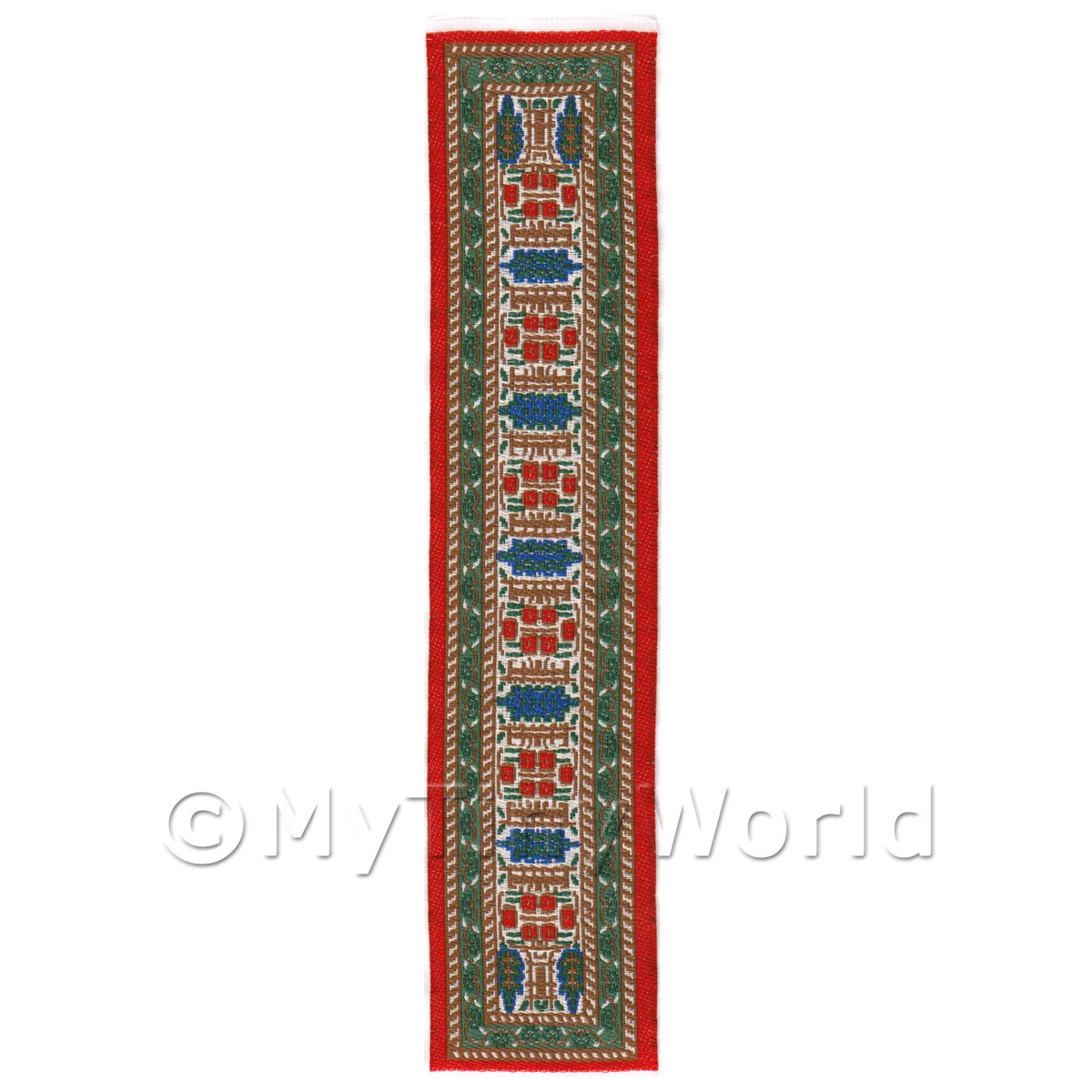 Dolls House Miniature 24cm Woven Turkish Hall Runner (TR061)