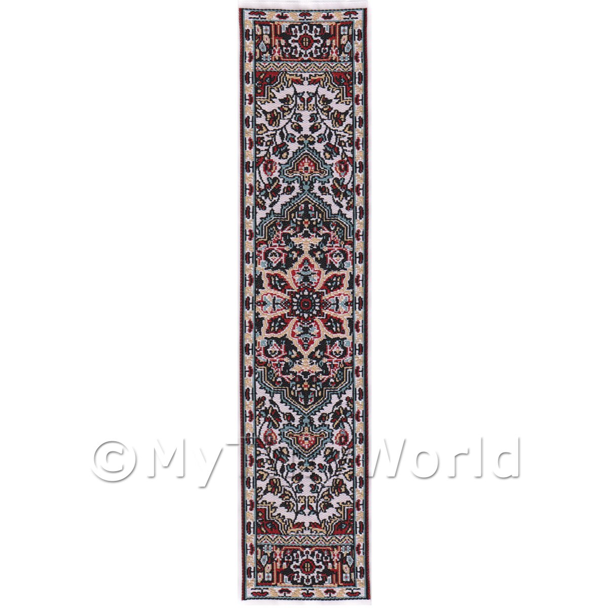 Dolls House Miniature 24cm Woven Turkish Hall Runner (TR078)