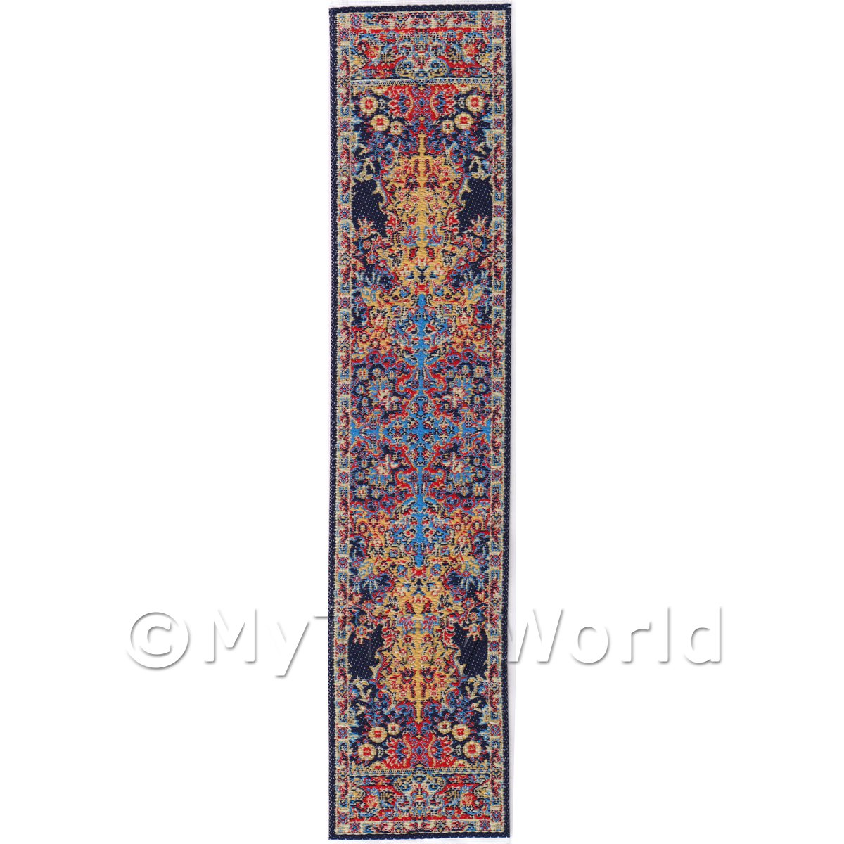 Dolls House Miniature 24cm Woven Turkish Hall Runner (TR080)