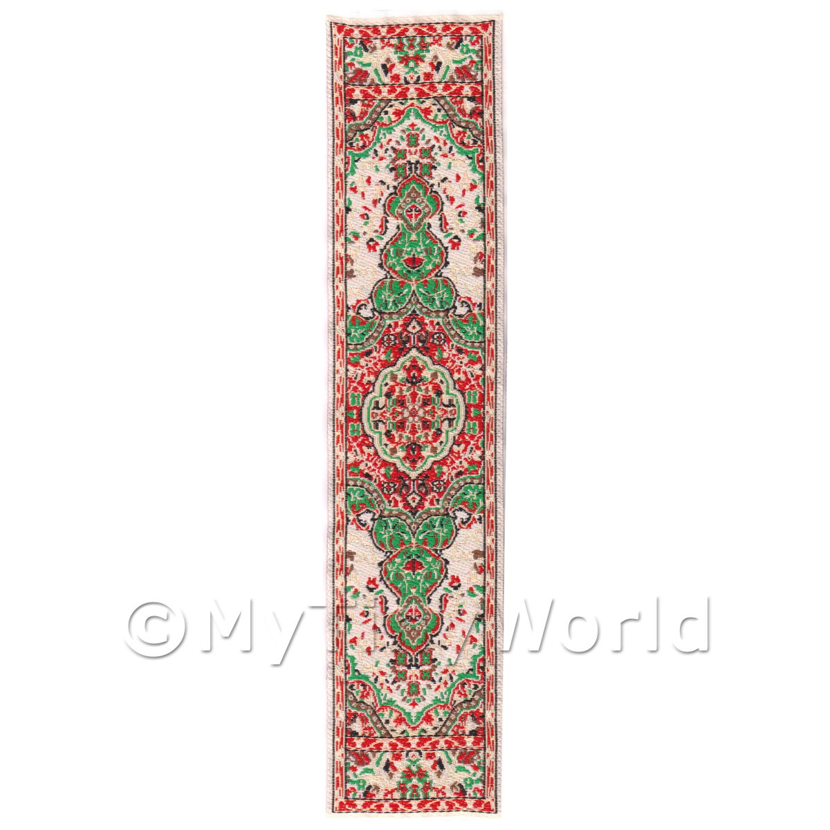 Dolls House Miniature 24cm Woven Turkish Hall Runner (TR092)