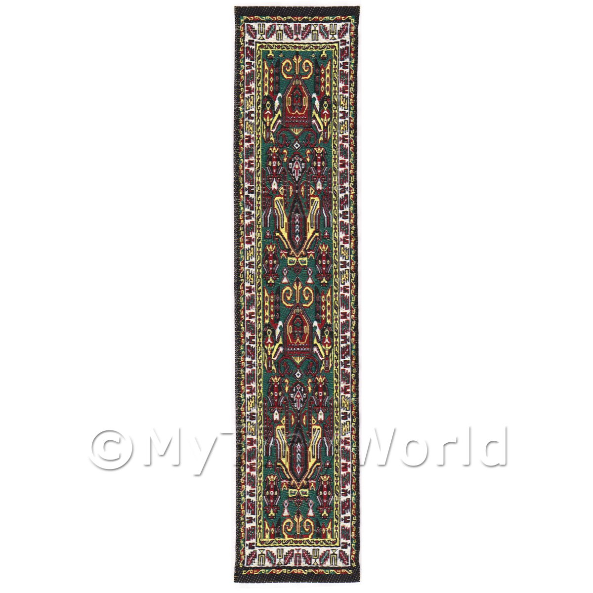 Dolls House Miniature 24cm Woven Turkish Hall Runner (TR094)