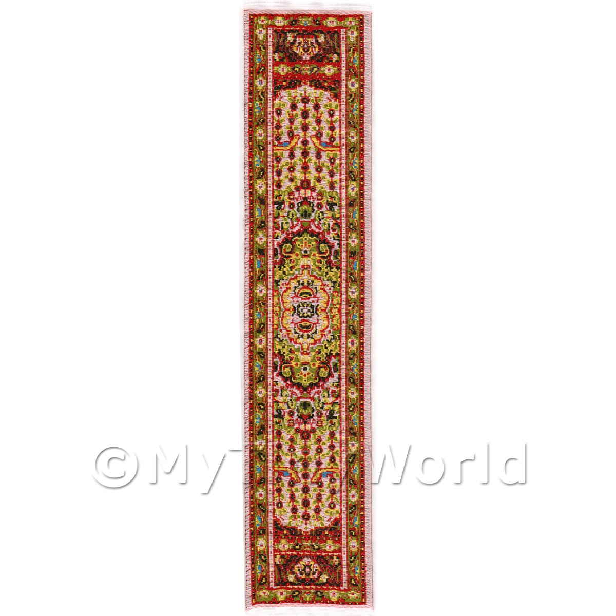 Dolls House Miniature 24cm Woven Turkish Hall Runner (TR095)