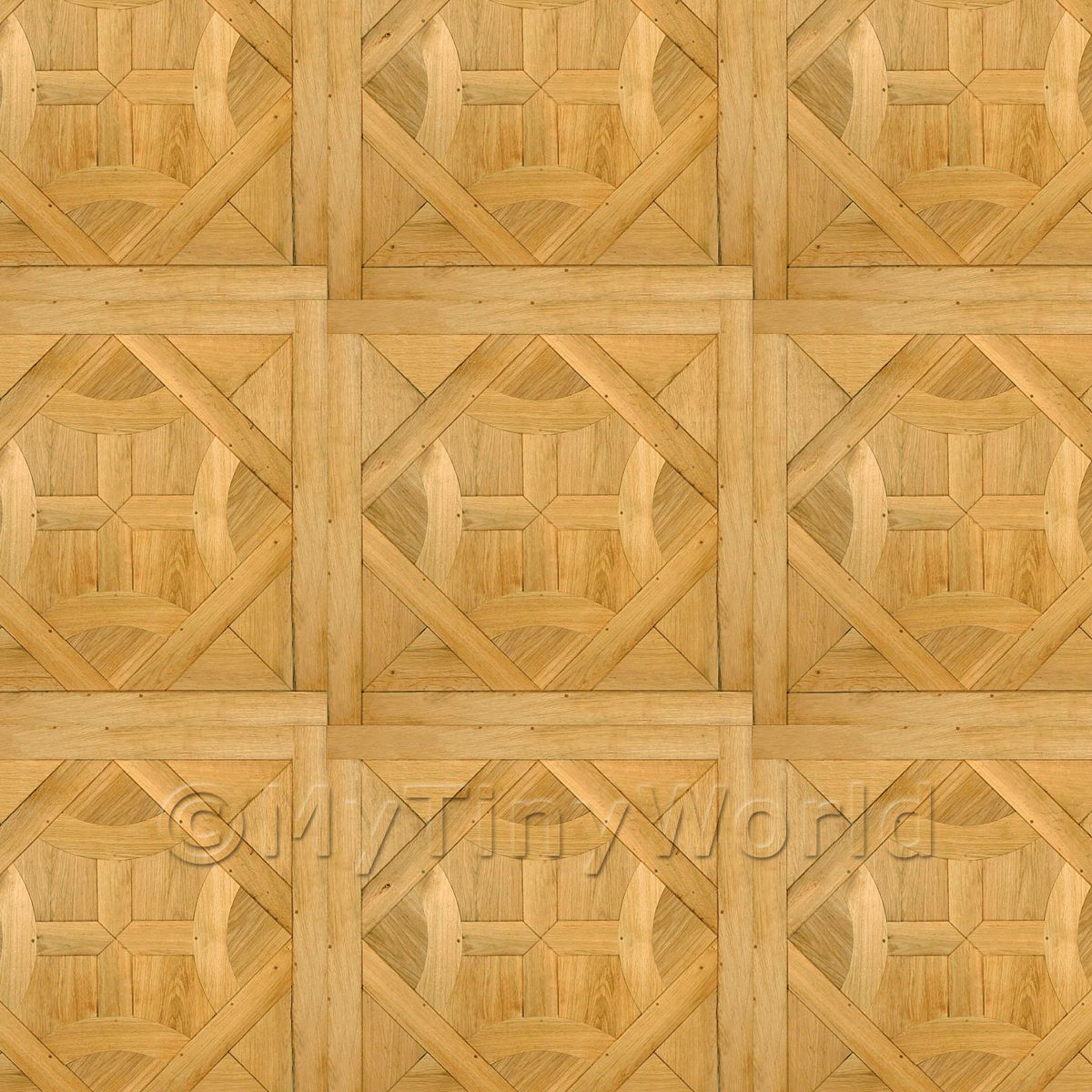 Dolls House Saint Fargeau Large Panel Parquet Wood Effect Flooring