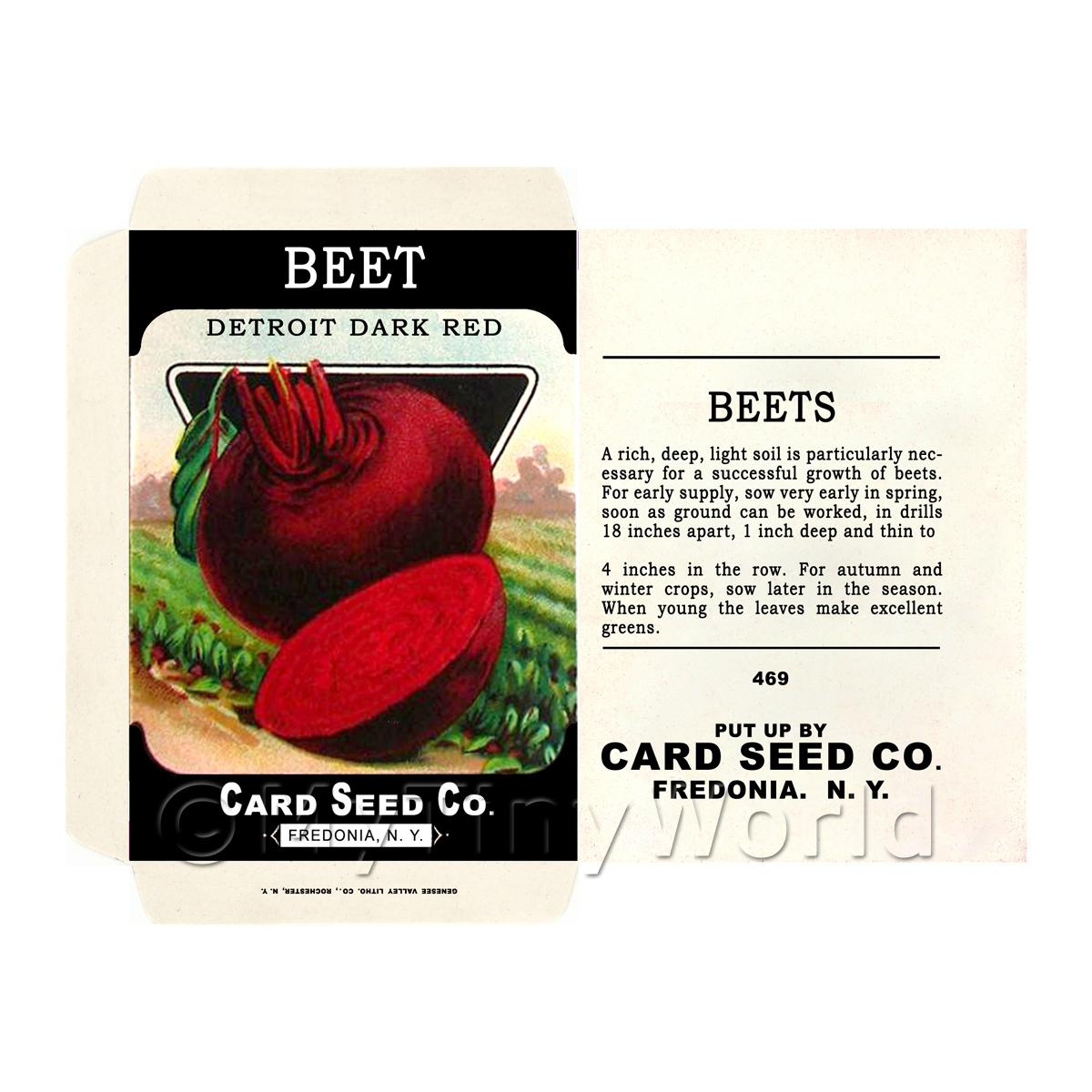 Detroit Beetroot Dolls House Miniature Seed Packet