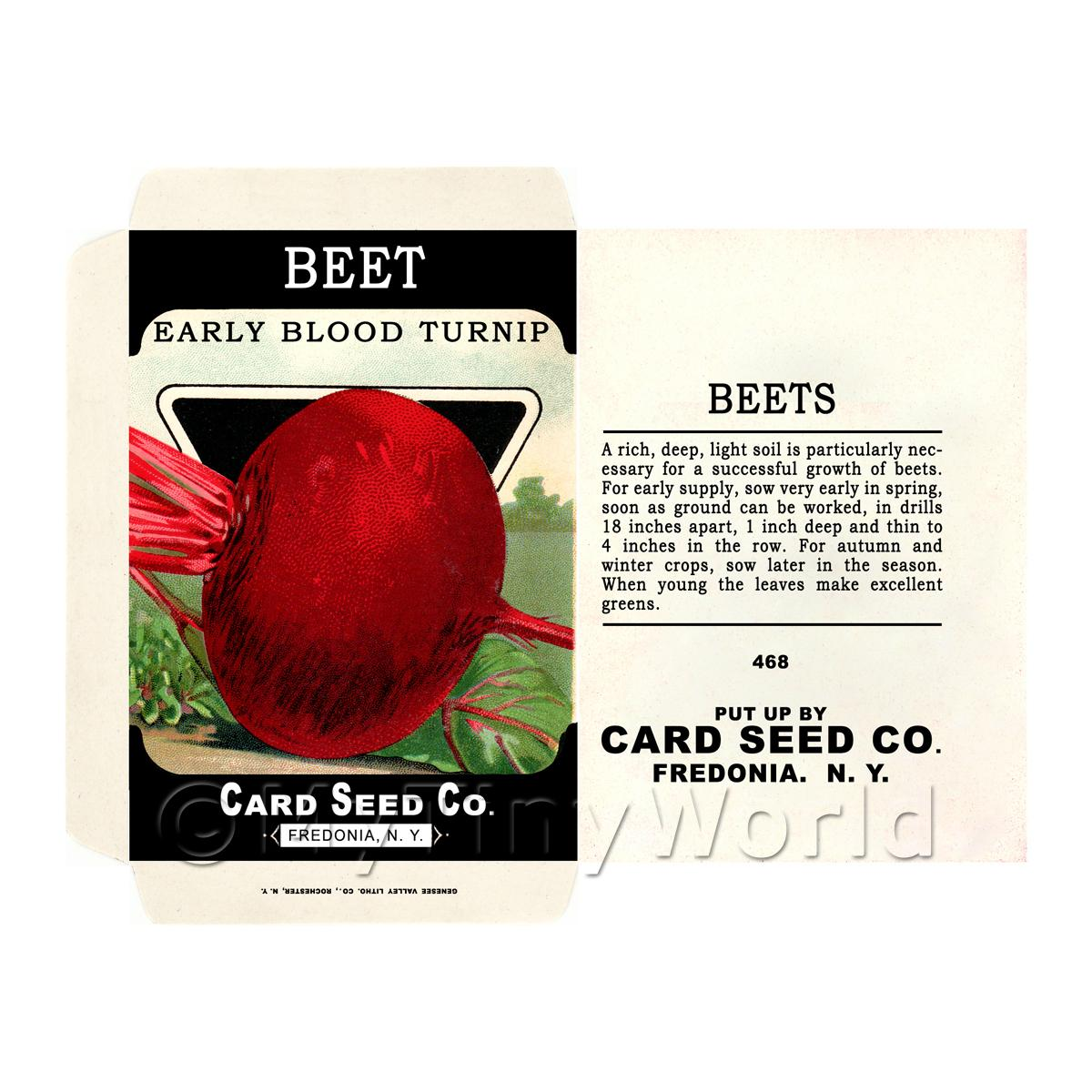 Early Beetroot Dolls House Miniature Seed Packet