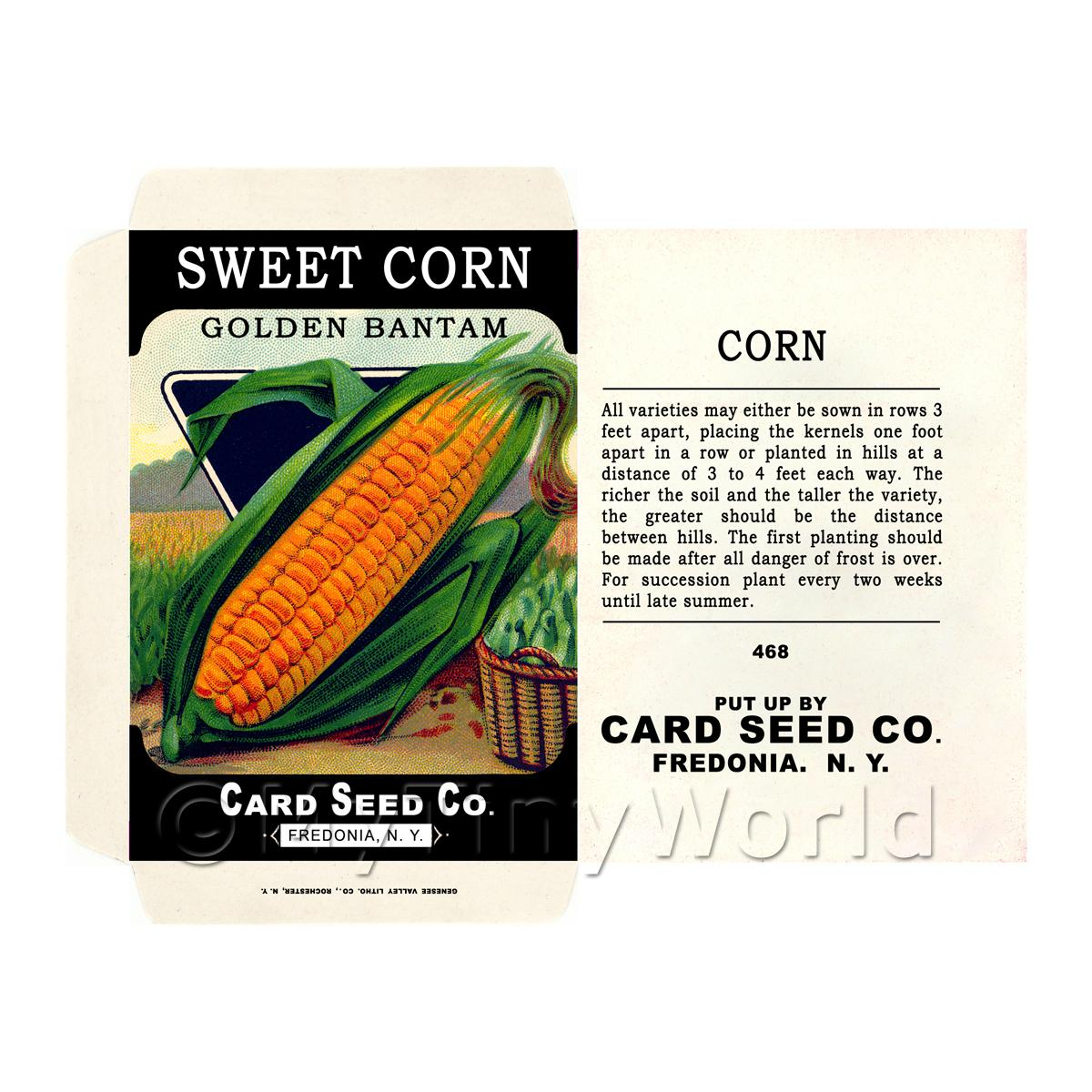 Golden Sweet Corn Dolls House Miniature Seed Packet