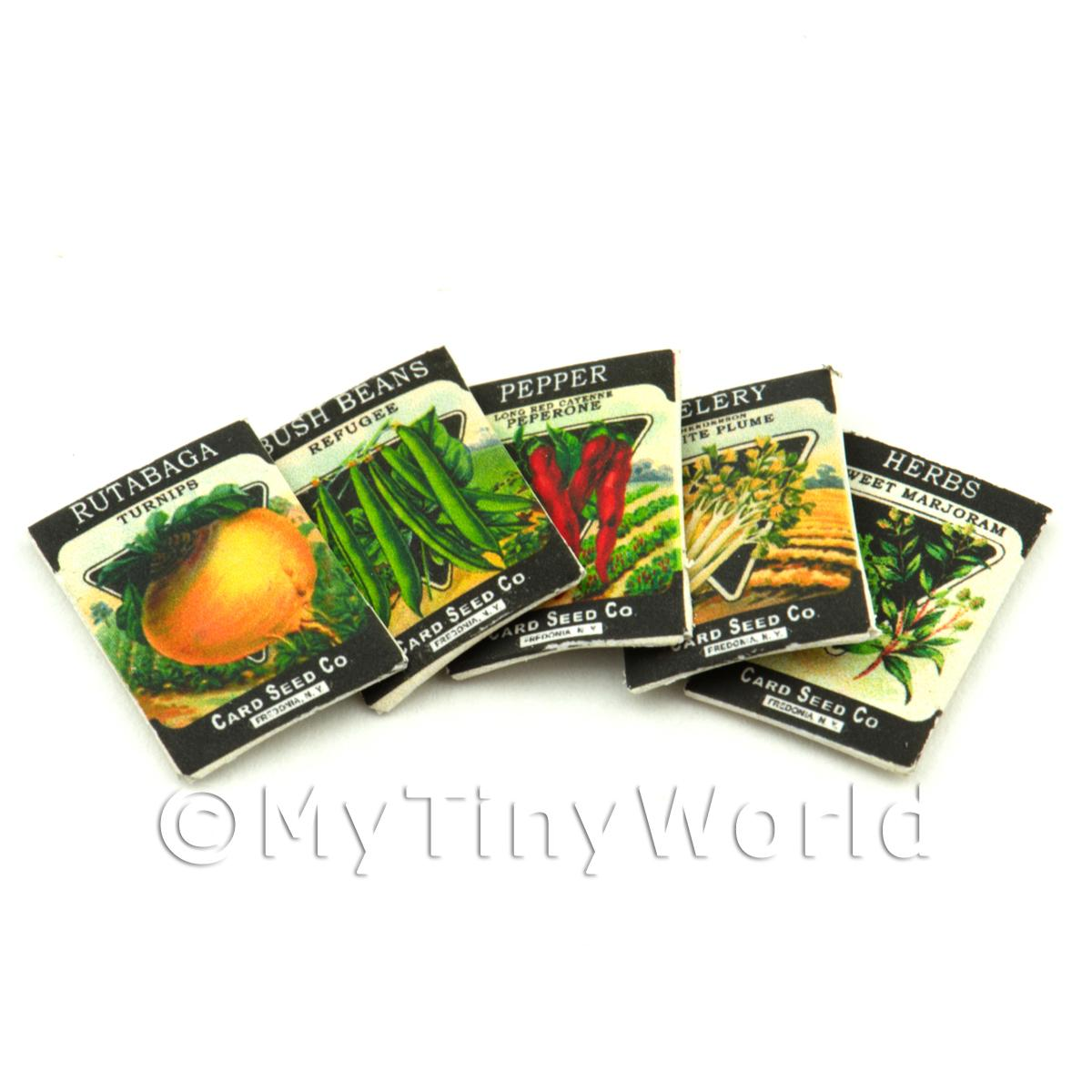 Set of 5 Dolls House Miniature Seed Packets (SPMS05)