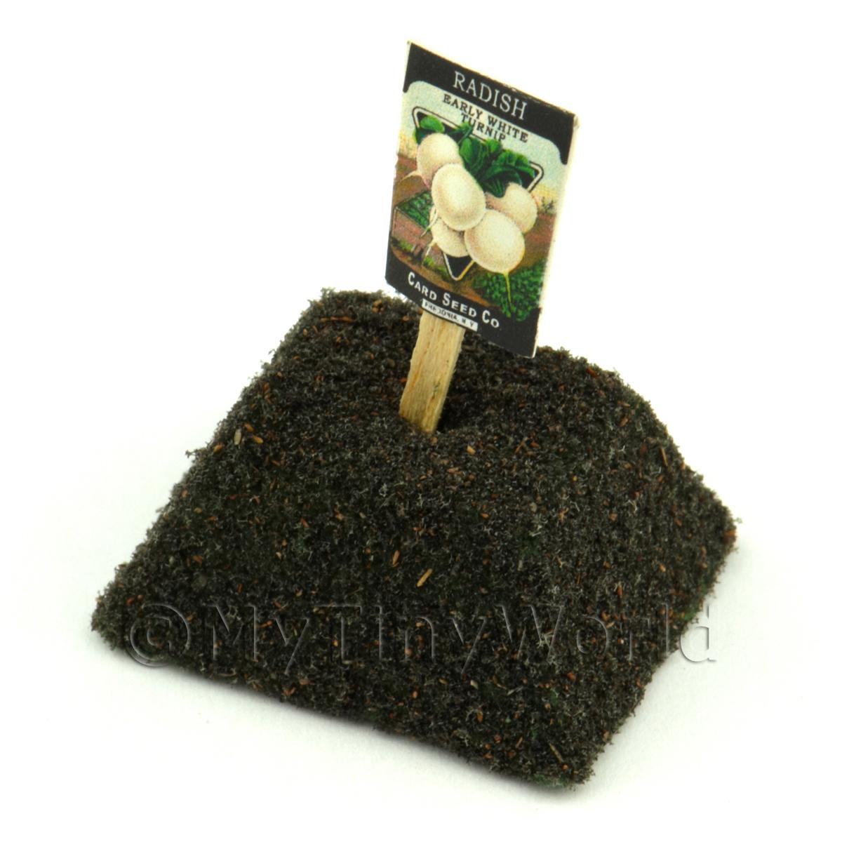 Dolls House Miniature White Radish Seed Packet With A Stick