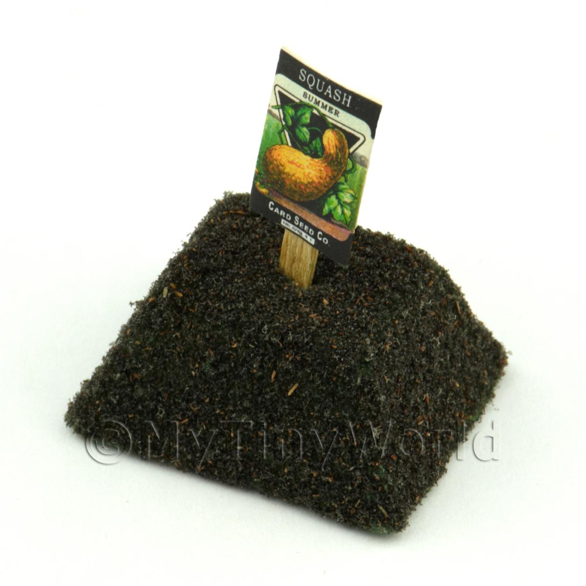 Dolls House Miniature Summer Squash Seed Packet With A Stick