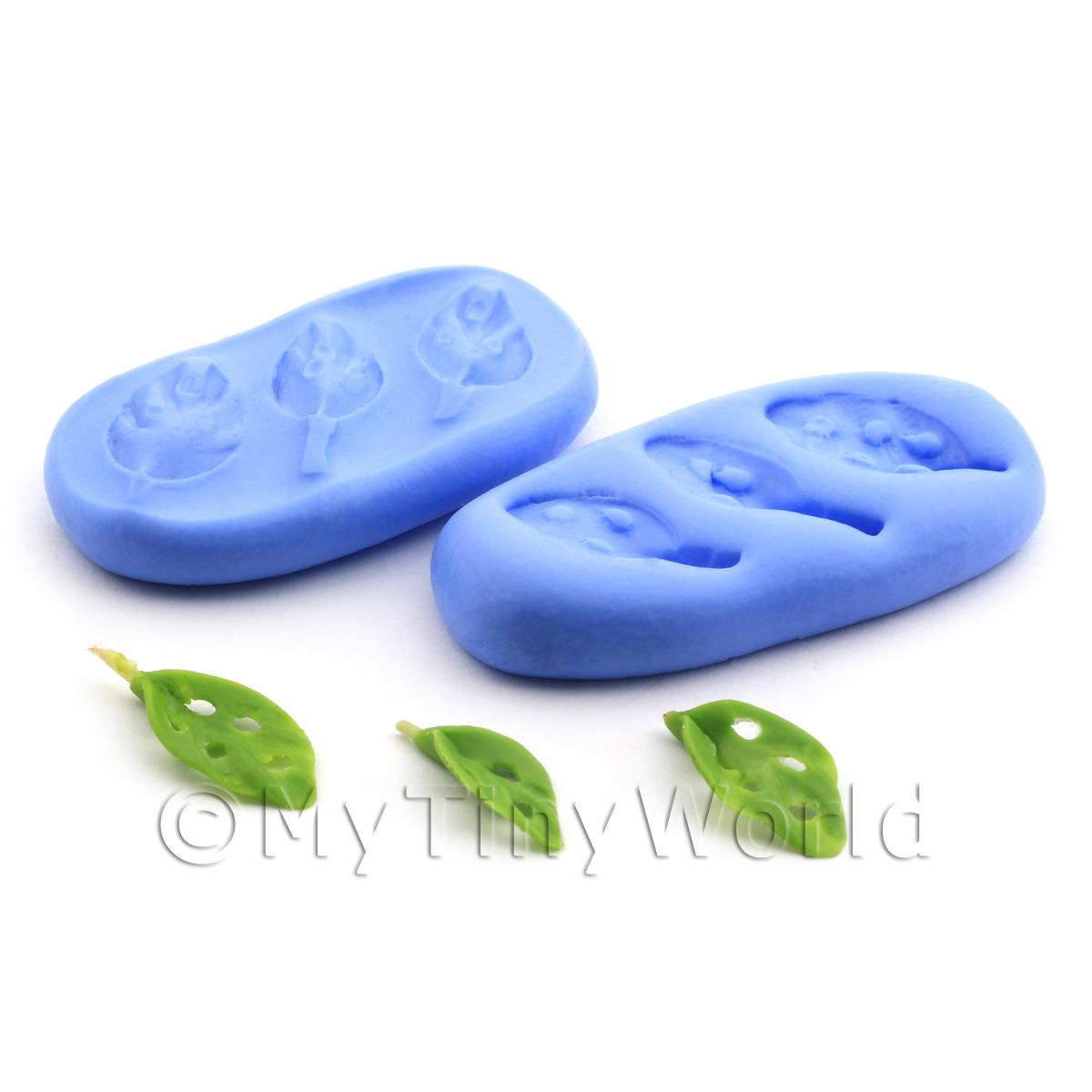Dolls House Miniature 2 Part Cheese Plant Leaf Reusable Silicone Mould