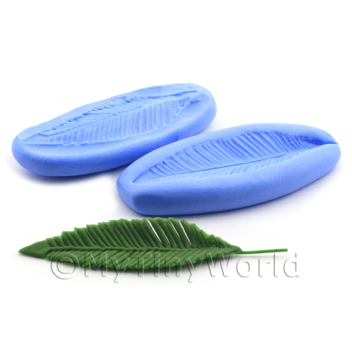 Dolls House Miniature 2 Part Huge Palm Frond Reusable Silicone Mould
