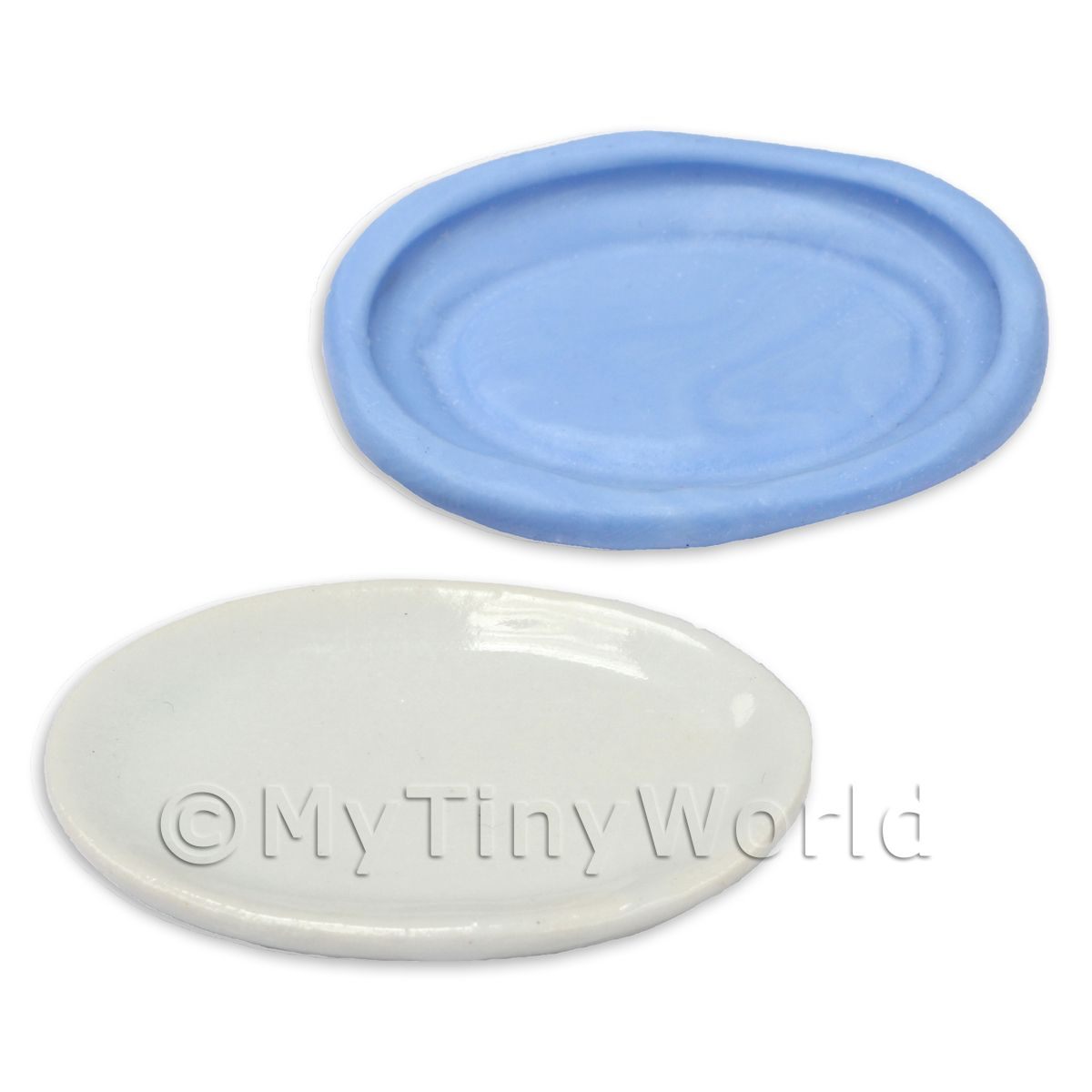 Dolls House Miniature Reusable Oval Plate Silicone Mould