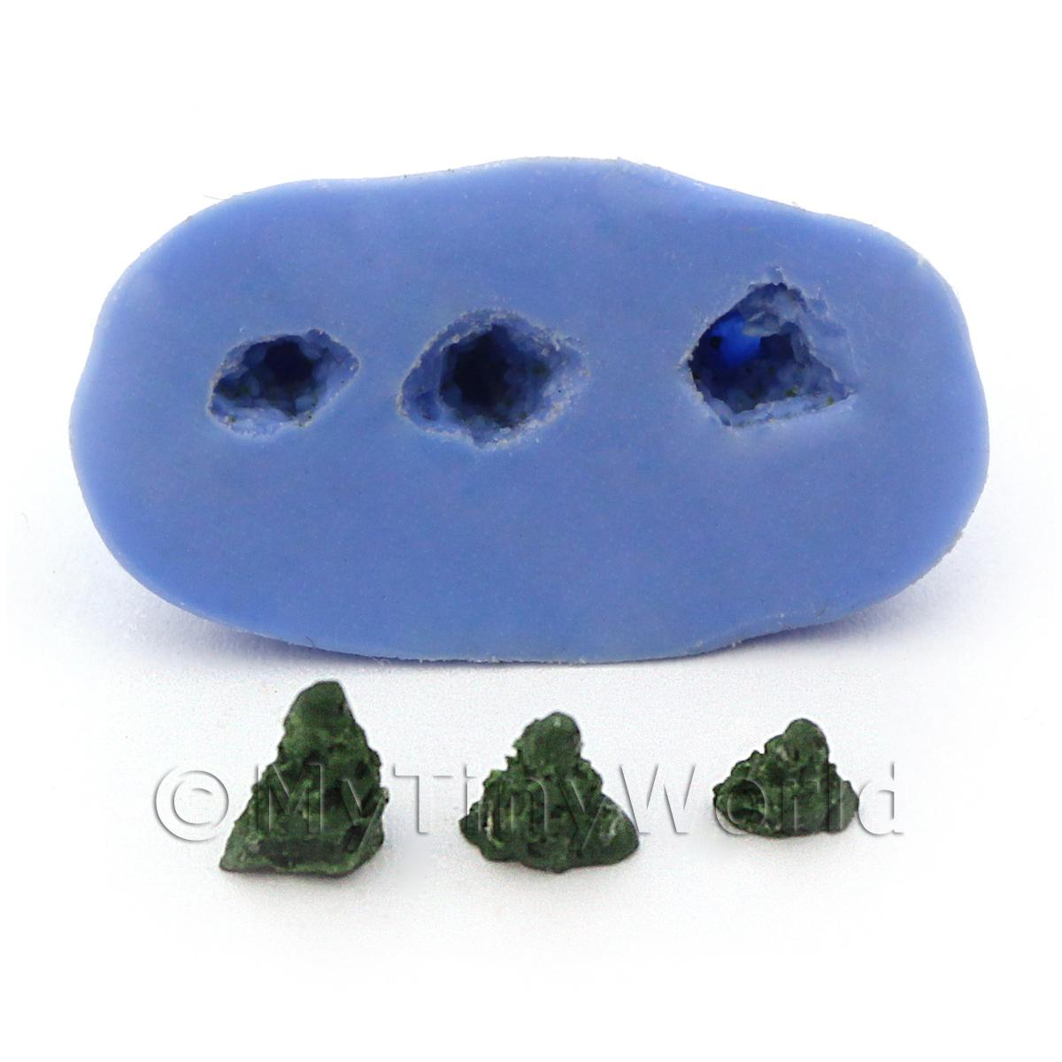 Dolls House 3 Piece Reusable Christmas Trees Silicone Mould
