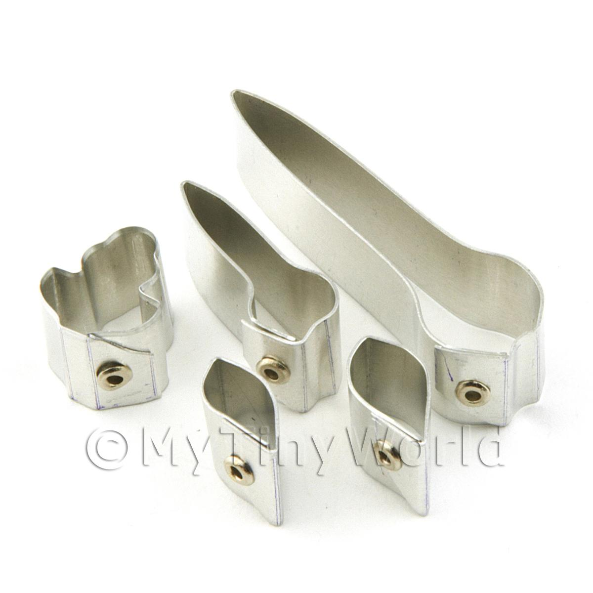 Set of 5 Metal Cymbidium Orchid Sugar Craft Cutters