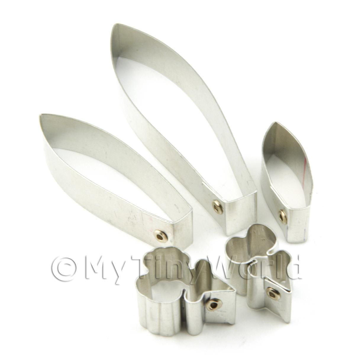 Set of 5 Assorted Size Metal Oncidium Orchid Sugar Craft Cutters