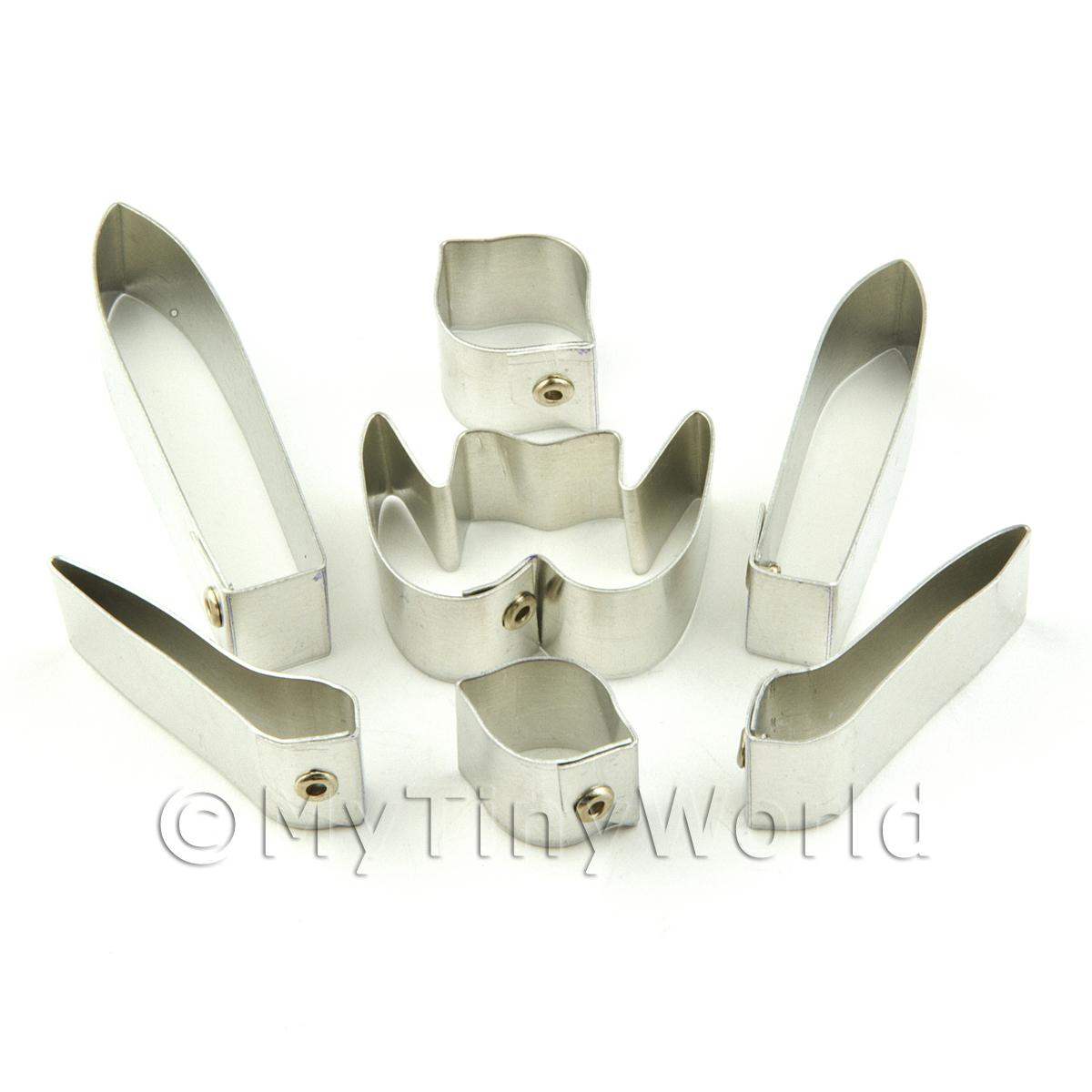Set of 7 Metal Ladys Slipper Parish Orchid Craft Cutters