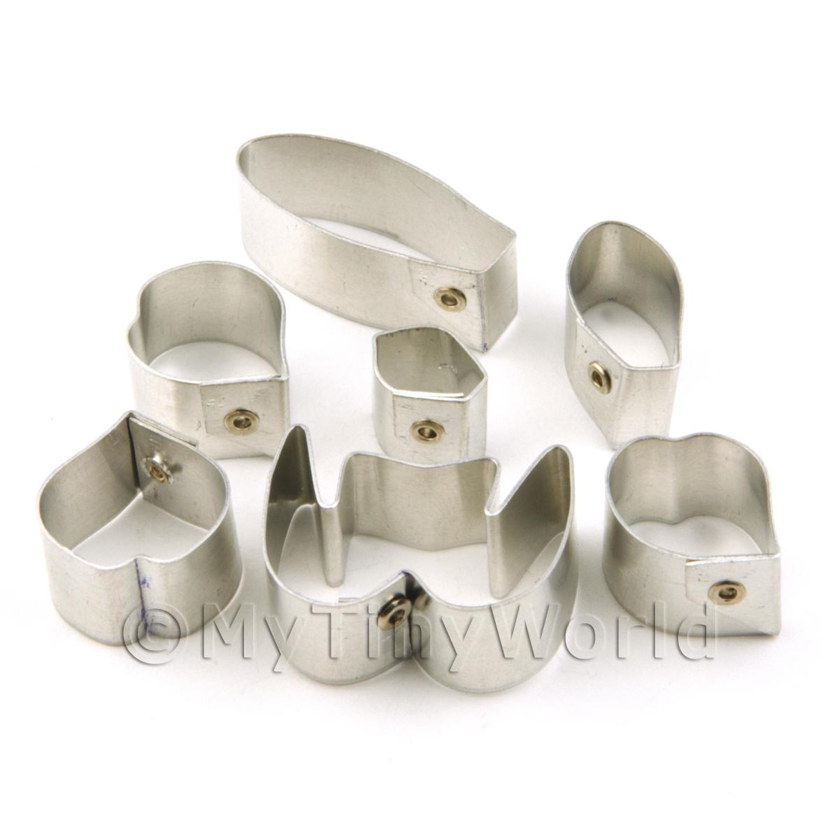 Set of 7 Metal Ladys Slipper Bellatulum Orchid Craft Cutters