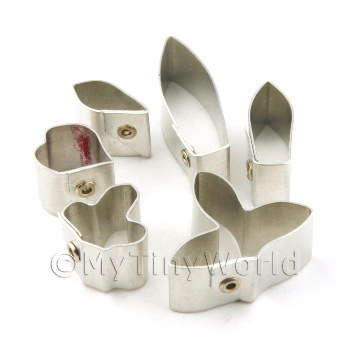 Set of 6 Metal Dendrobium Hybrid Orchid Craft Cutters