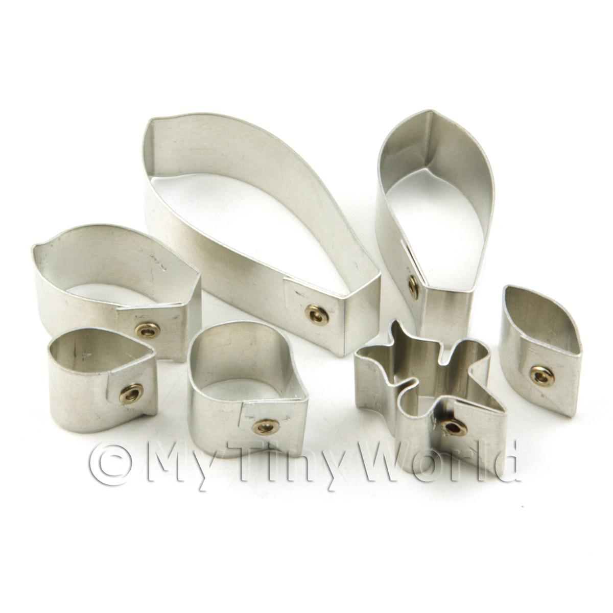 Set of 7 Metal Phaleanopsis Orchid Craft Cutters