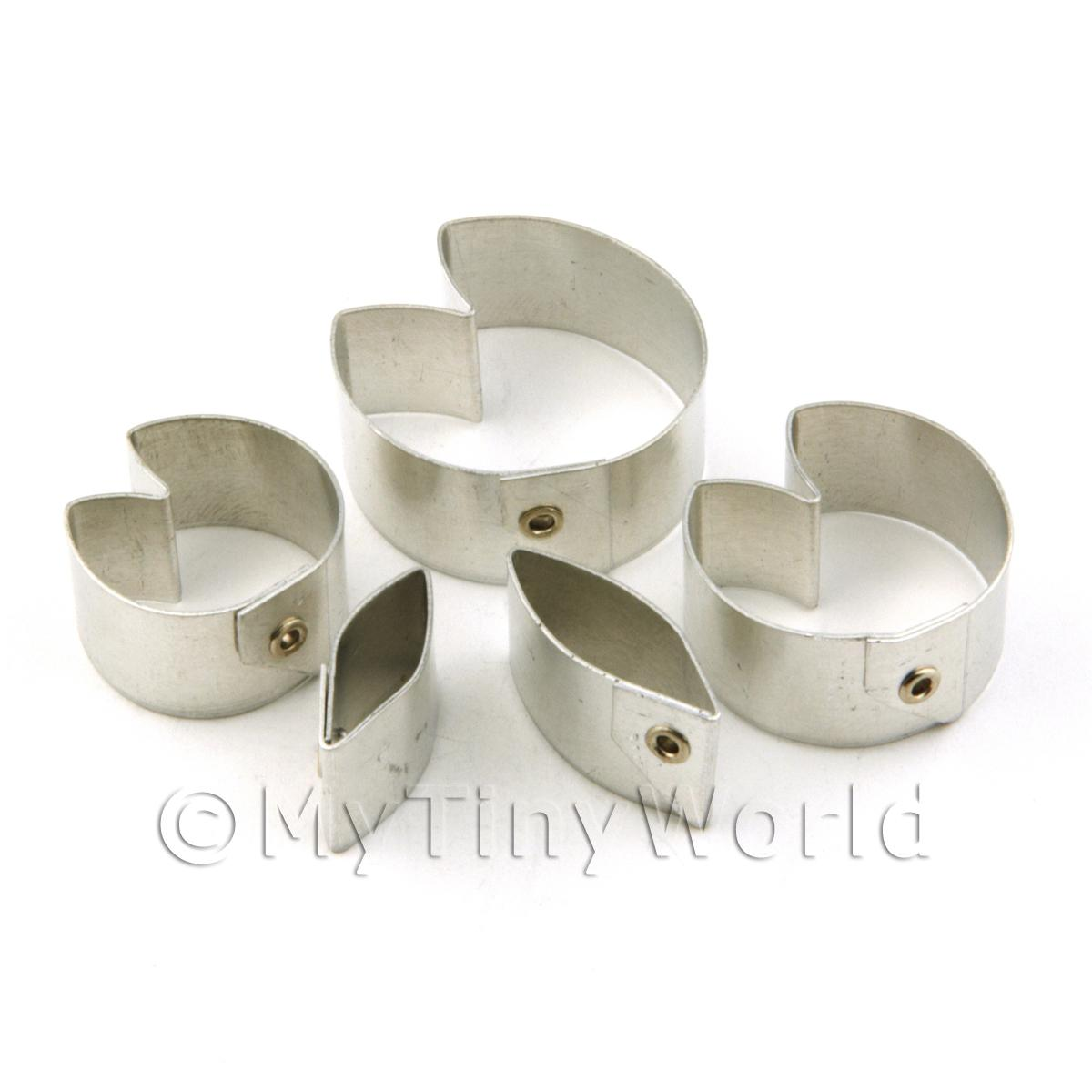 Set of 6 Metal Water Lilly Sugar Craft Cutters