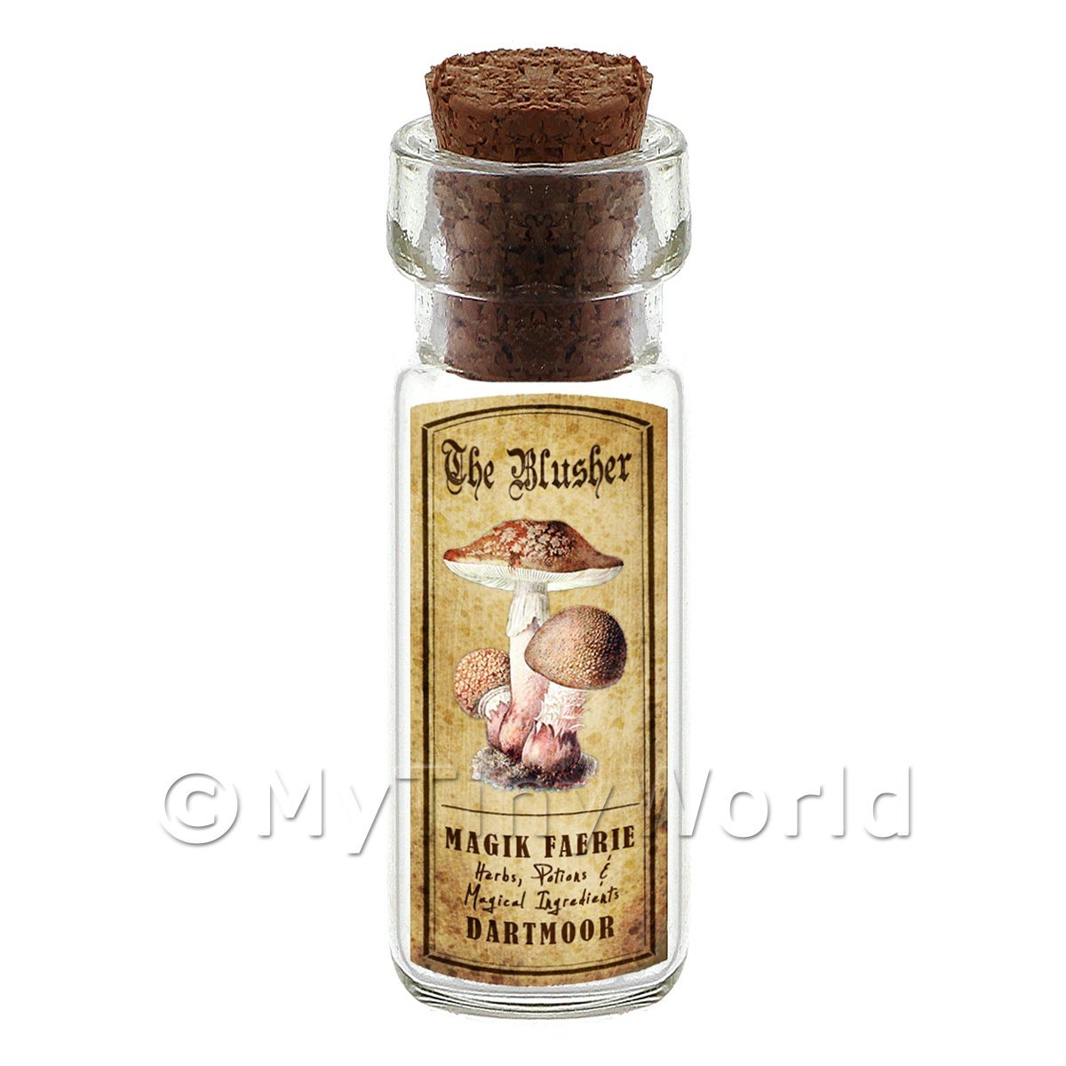 Dolls House Apothecary The Blusher Fungi Bottle And Colour Label