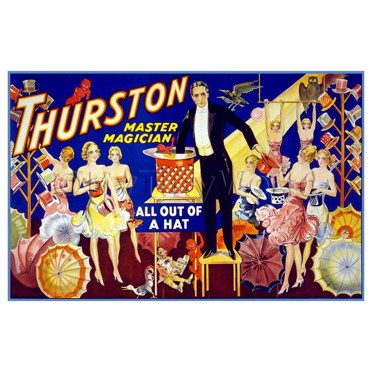 Dolls House Miniature Thurston Magic Poster - All Out Of A Hat