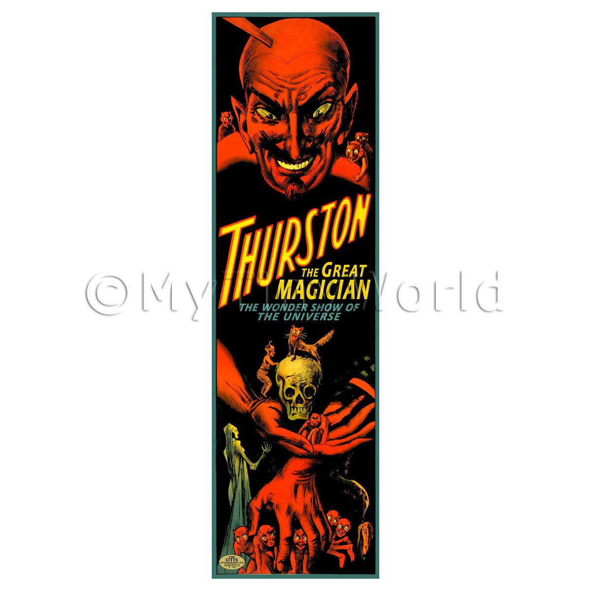 Dolls House Miniature Thurston Magic Poster - Long Devil