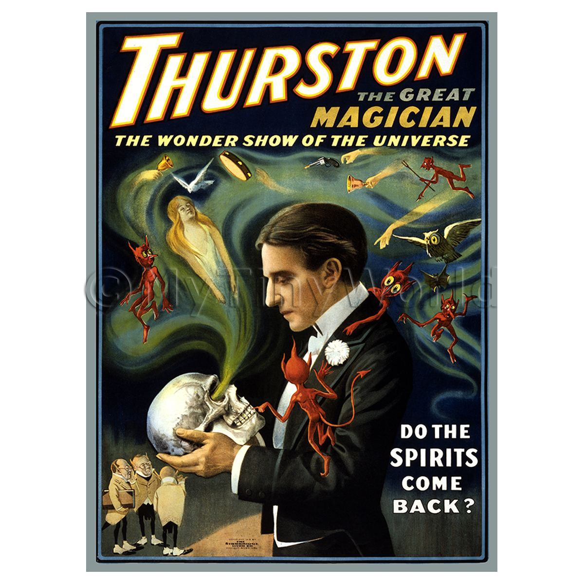 Dolls House Miniature Thurston Magic Poster - Spirits Come Back