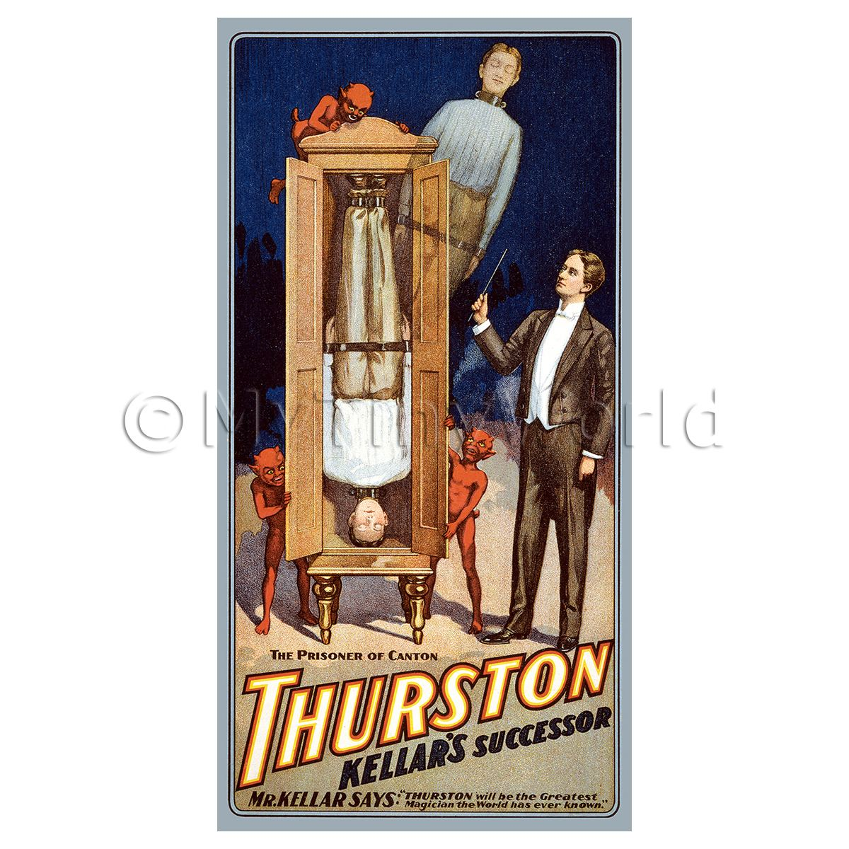 Dolls House Miniature Thurston Magic Poster - Prisoner Of Canton
