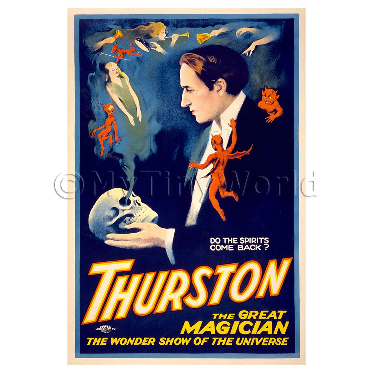 Dolls House Miniature Thurston Magic Poster - Spirits Come Back 2