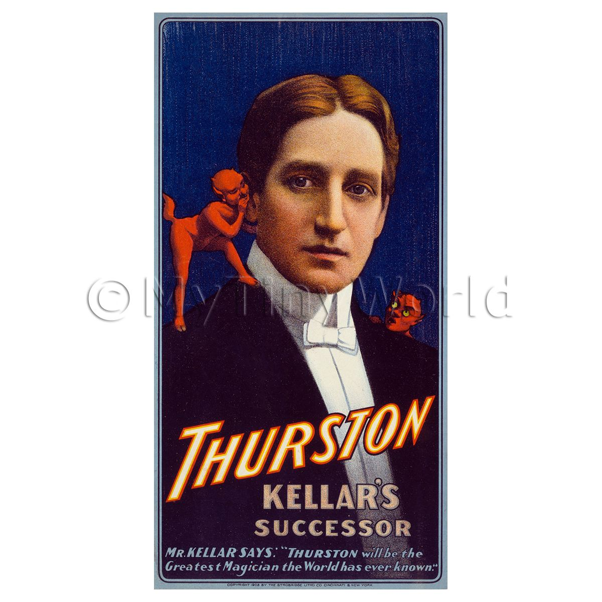 Dolls House Miniature Thurston Magic Poster - Devils Ear