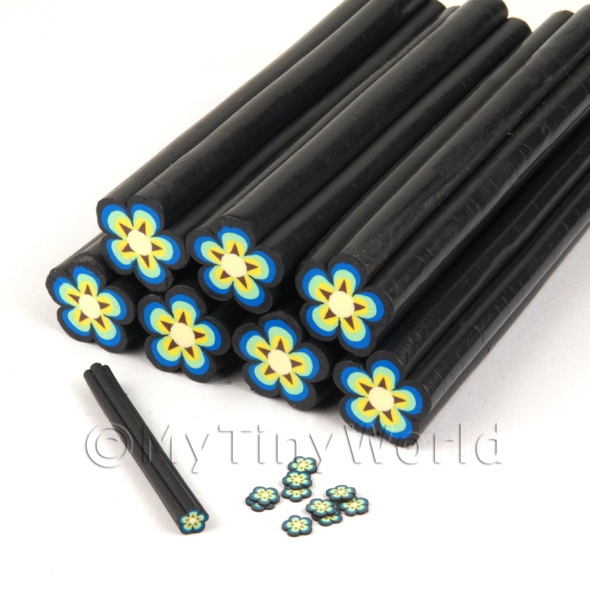 Unbaked Yellow Flower Cane Nail Art And Jewellery UNC23