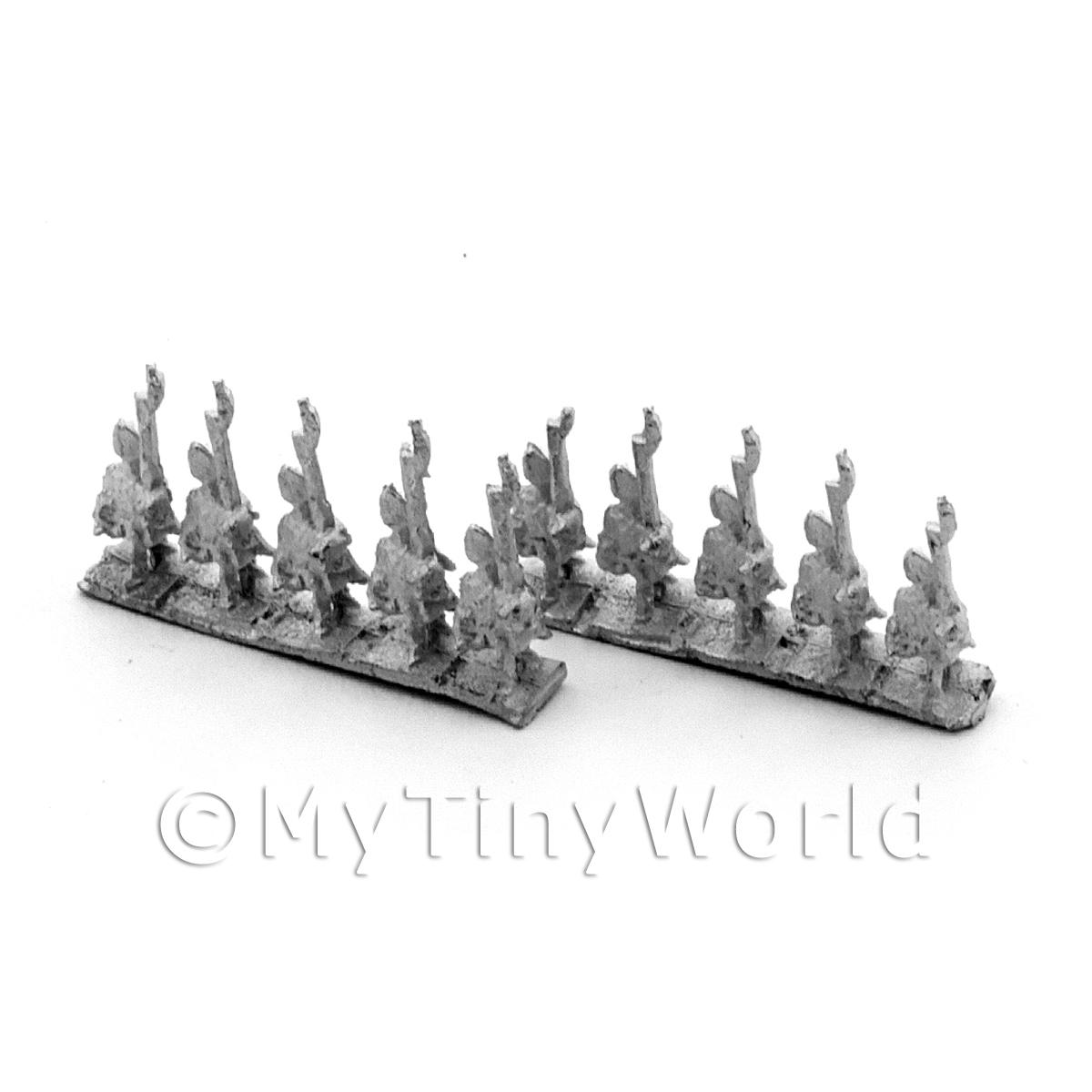 10 Dolls House Metal Marlburian  Austrian Grenadier Rifles