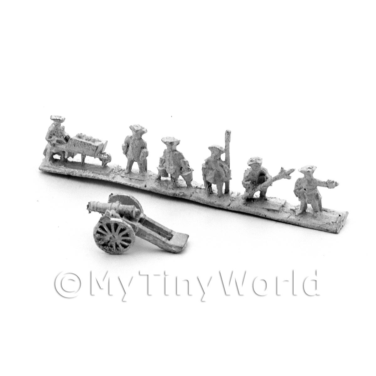 Dolls House Metal Marlburian Artillery and Crew