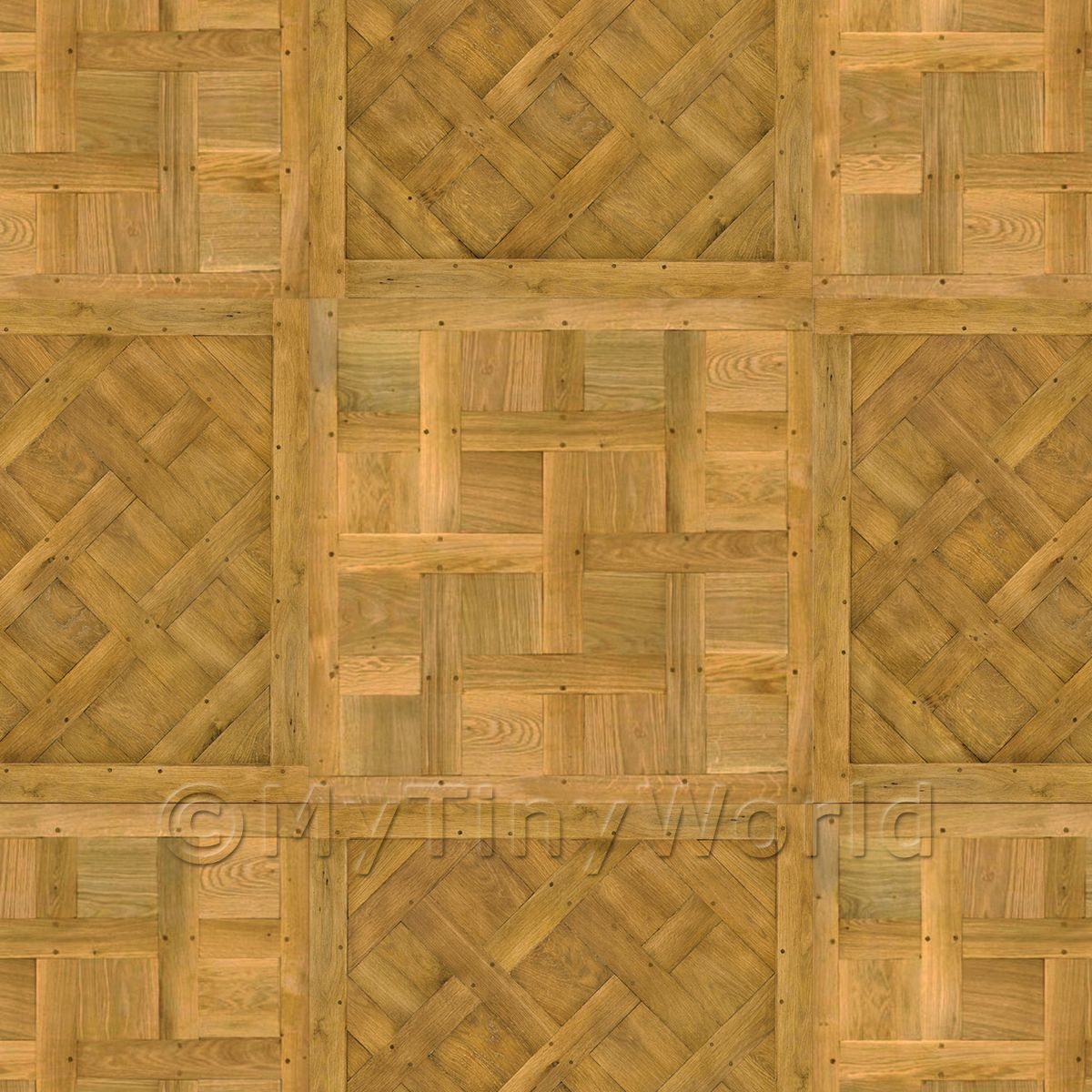 Dolls House Versailles / Chantilly Mixed Panel Parquet Flooring