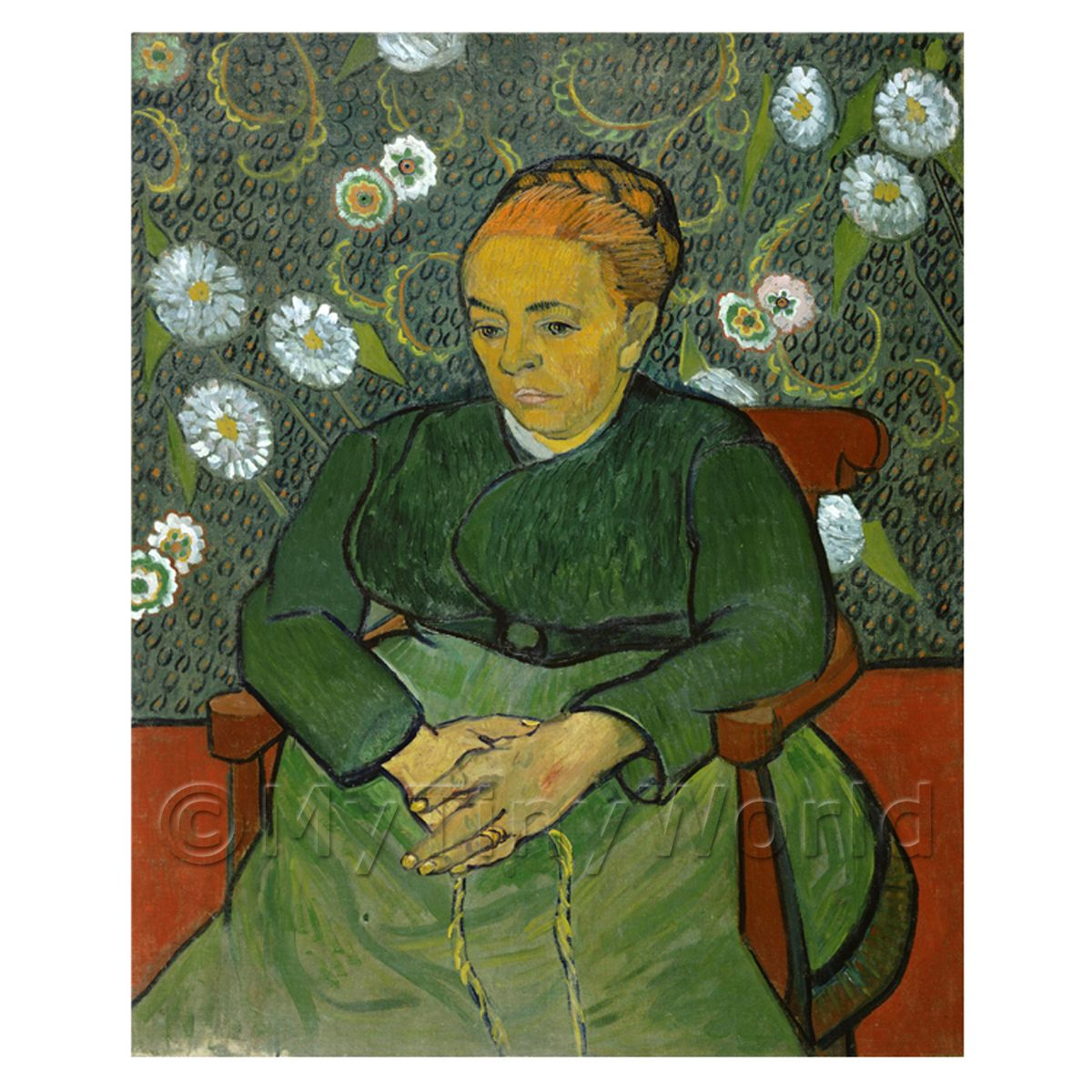 Van Gogh Painting Madame Roulin in a Rocking Chair