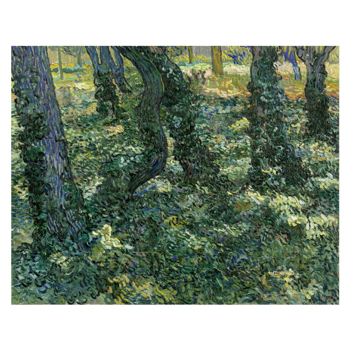 Van Gogh Painting Undergrowth (Forest)