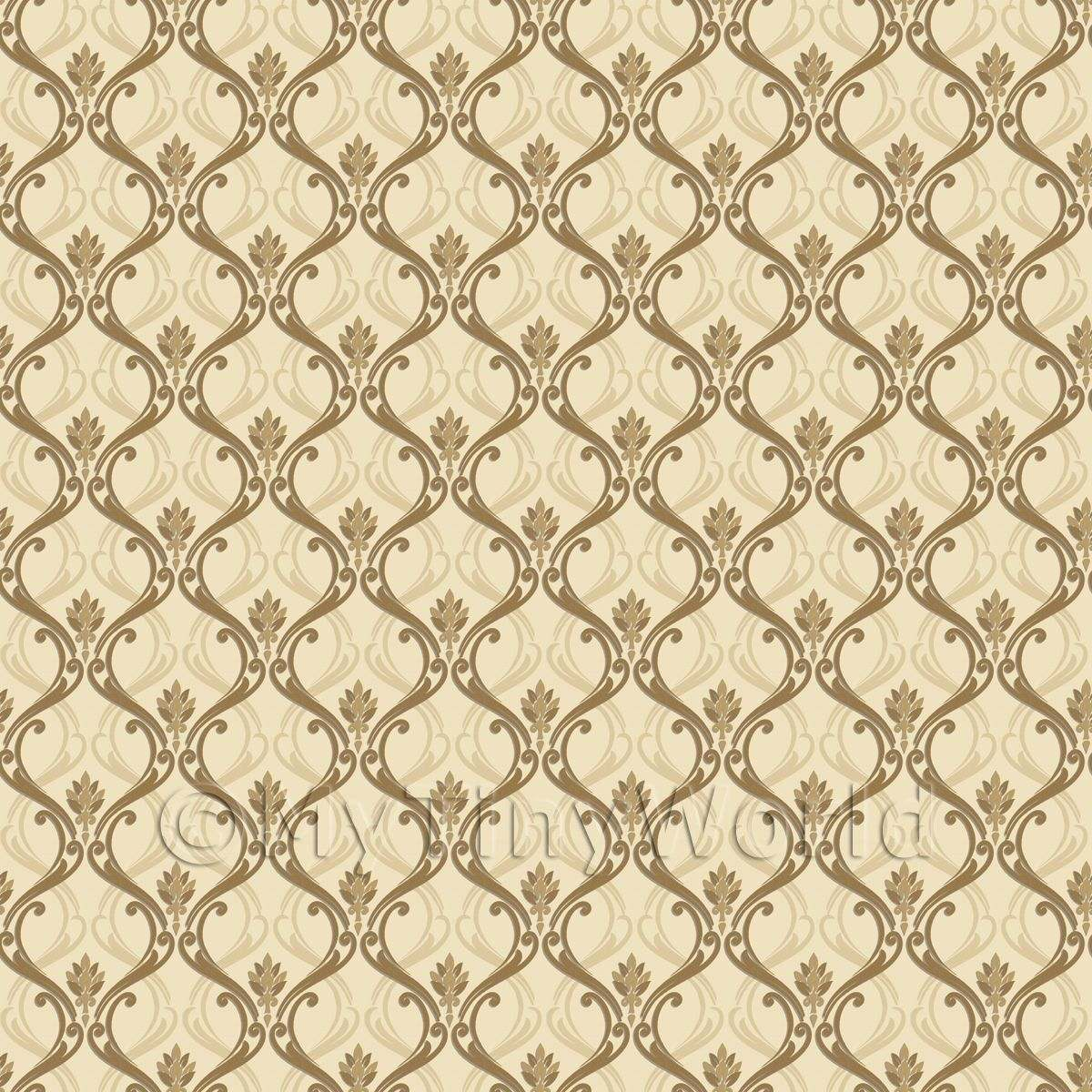 Patterned wallpaper dolls house miniature mytinyworld for House wallpaper paper