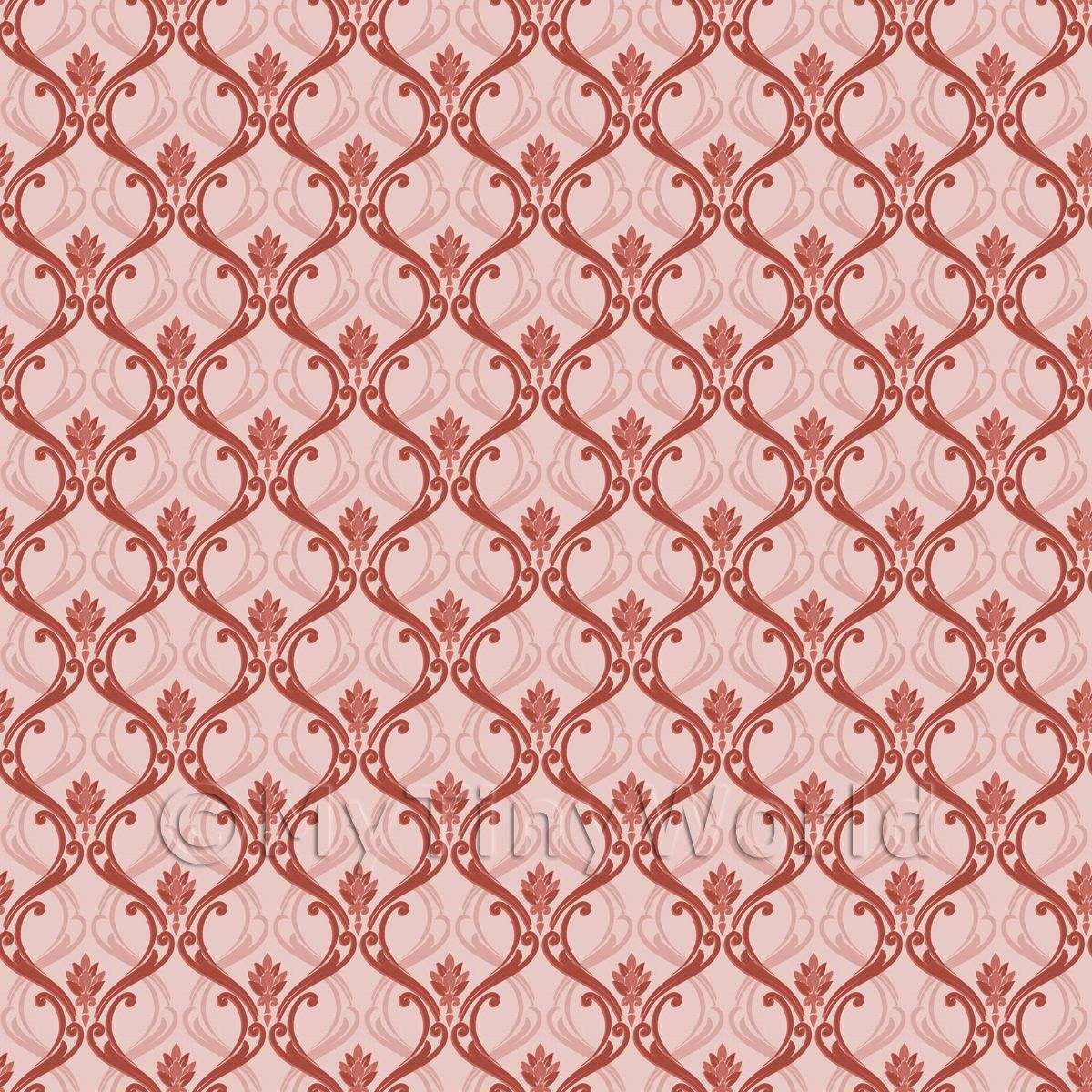 patterned wallpaper dolls house miniature mytinyworld