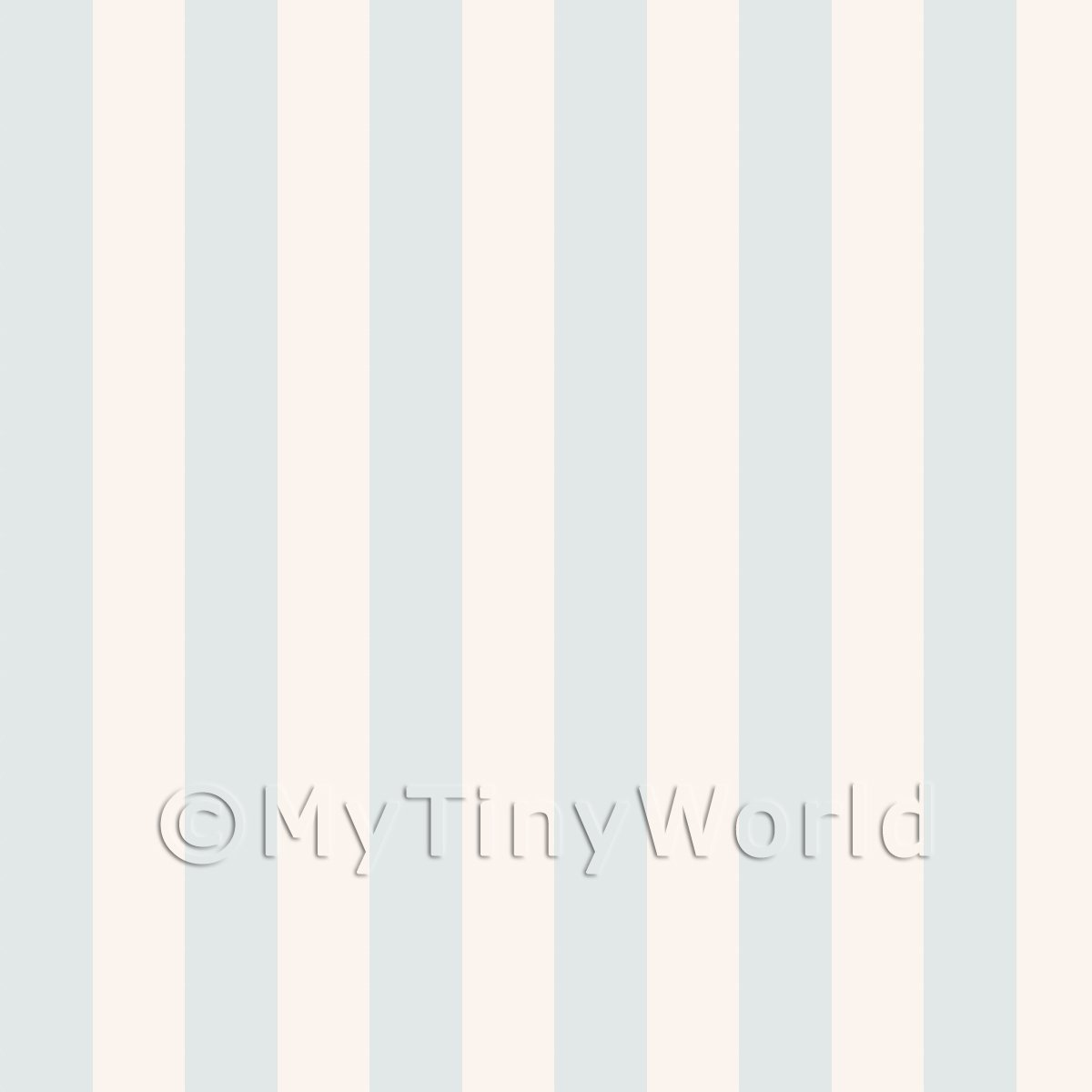 Pack of 5 Dolls House Thick Duck Egg Blue Striped Wallpaper Sheets