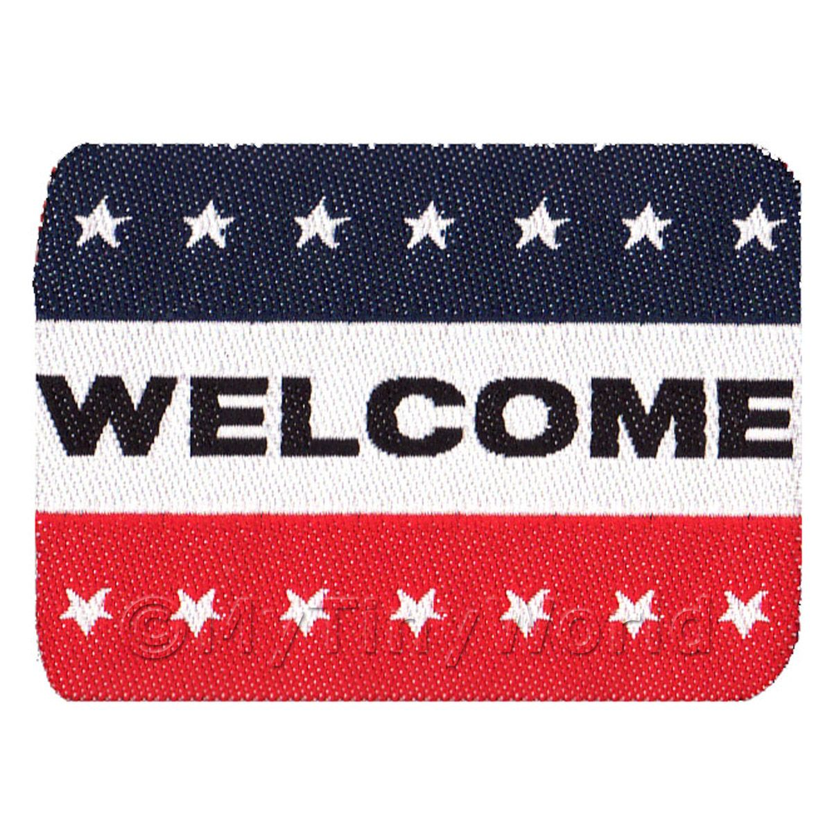 Dolls House American Themed Welcome Mat (WM9)