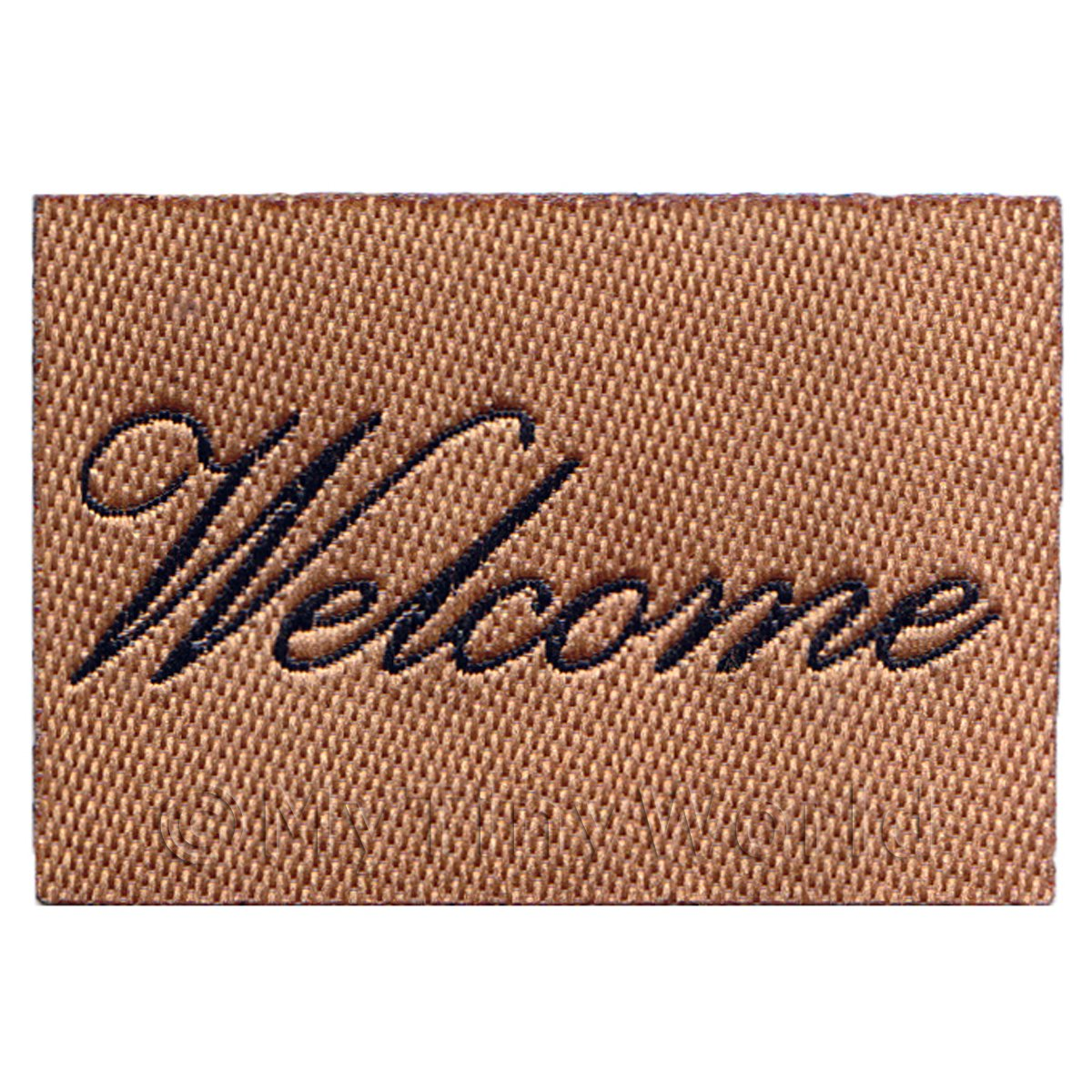 Dolls House Miniature 53mm Welcome Mat Black Script(NW2)