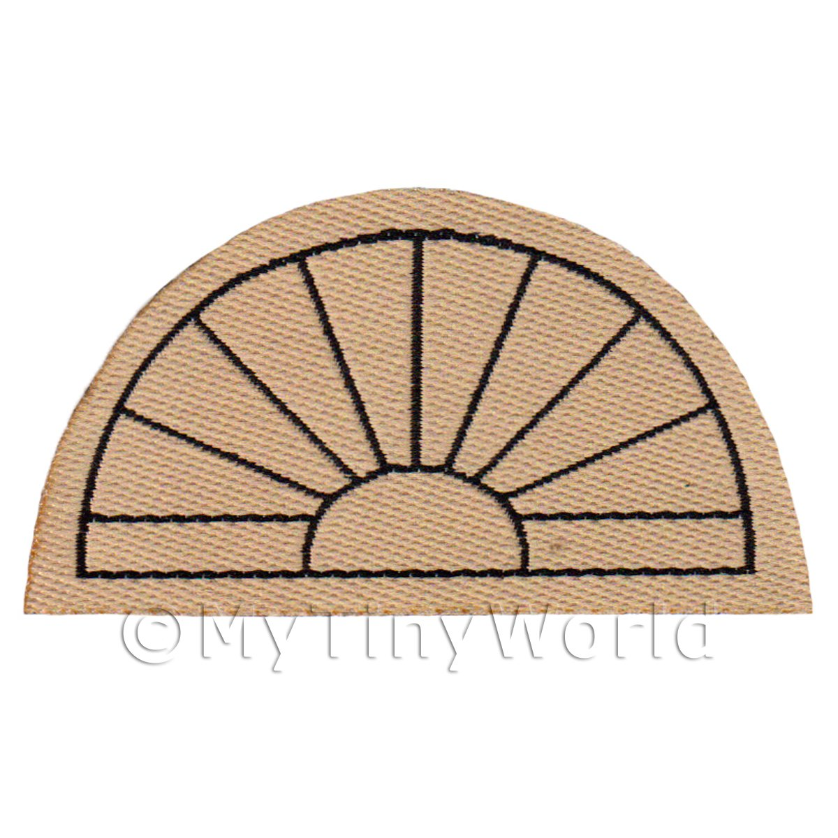 Dolls House Miniature 61mm Half Moon Beige Welcome Mat (NW3)